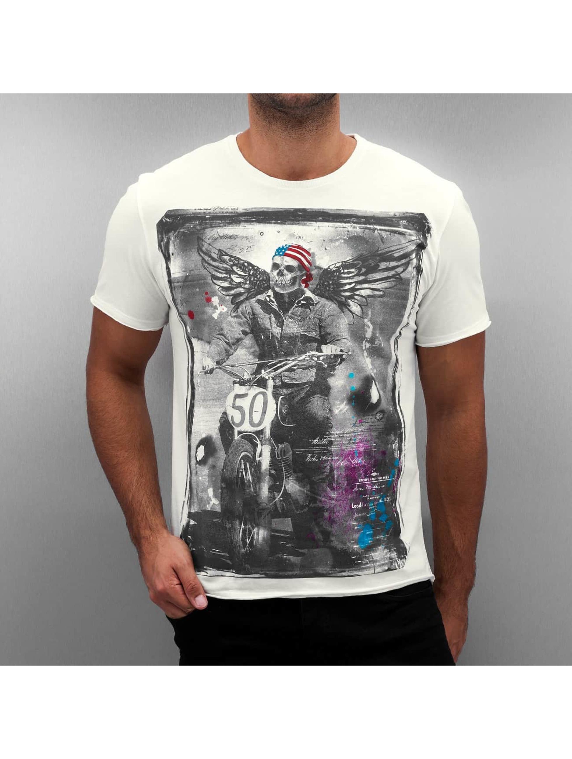 Amplified T-shirt Winged Biker bianco