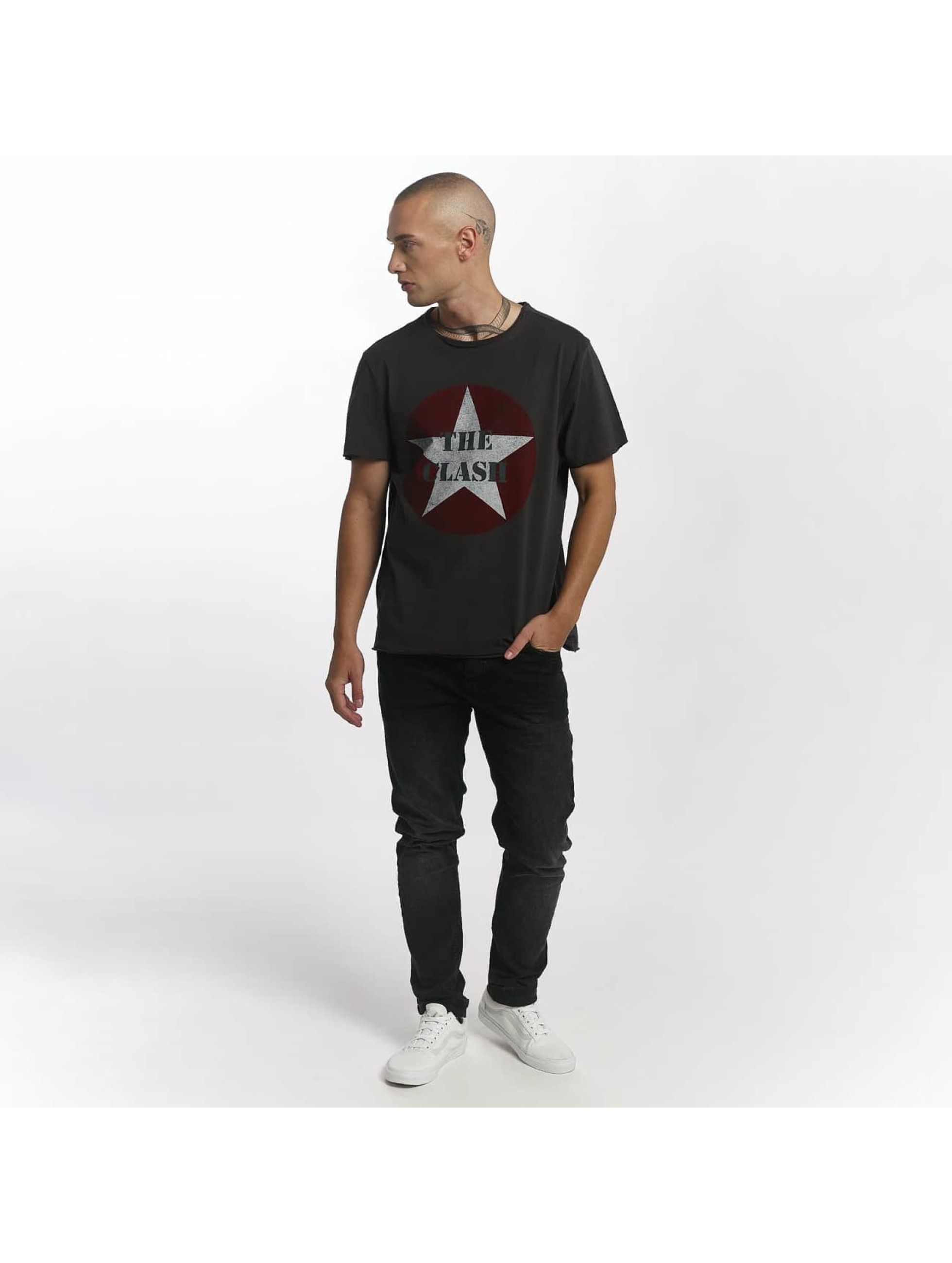 Amplified T-Shirt The Clash Star Logo grau