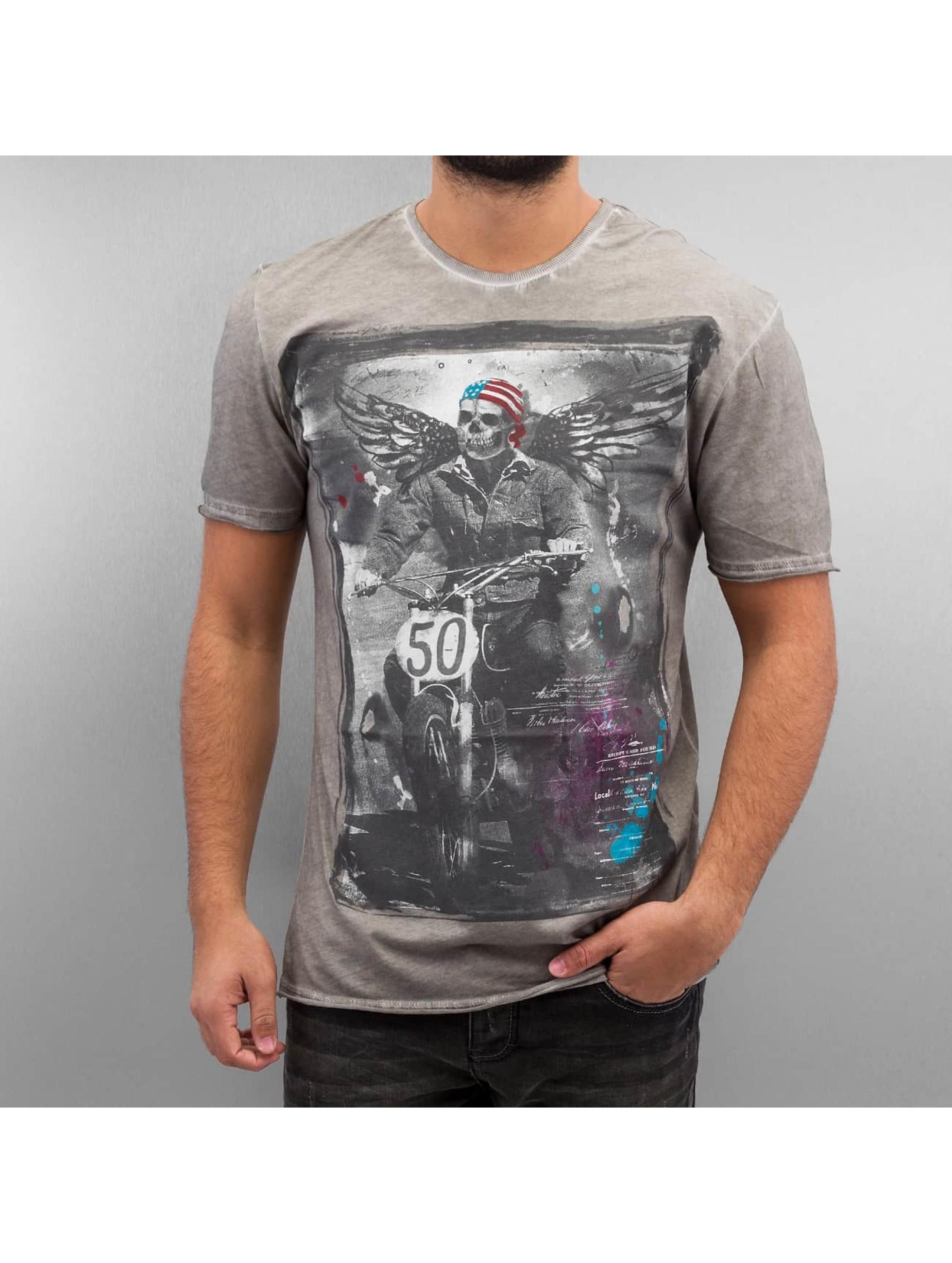 Amplified T-Shirt Winged Biker grey