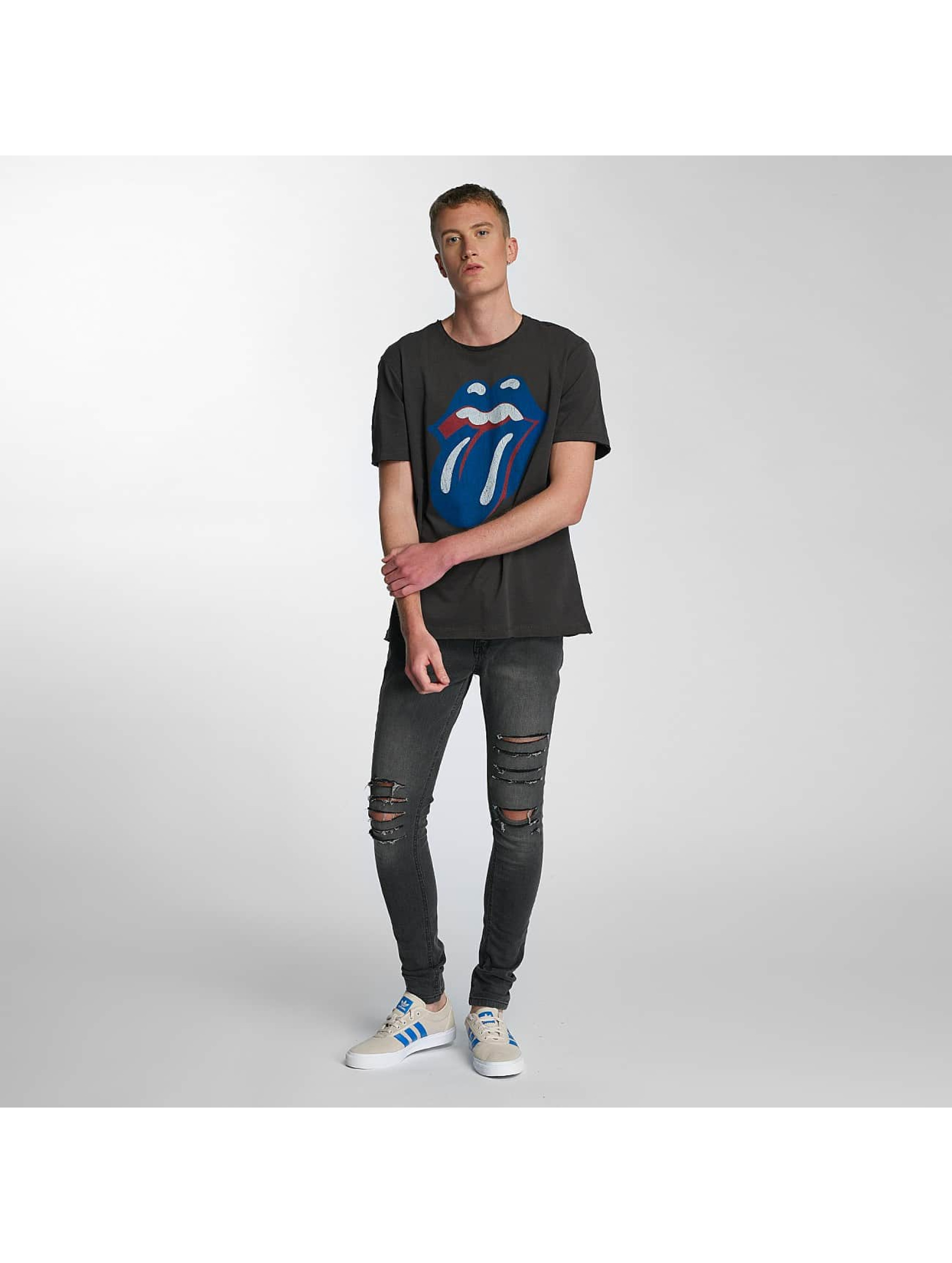 Amplified T-Shirt Rolling Stones Blue und Lonesome grey