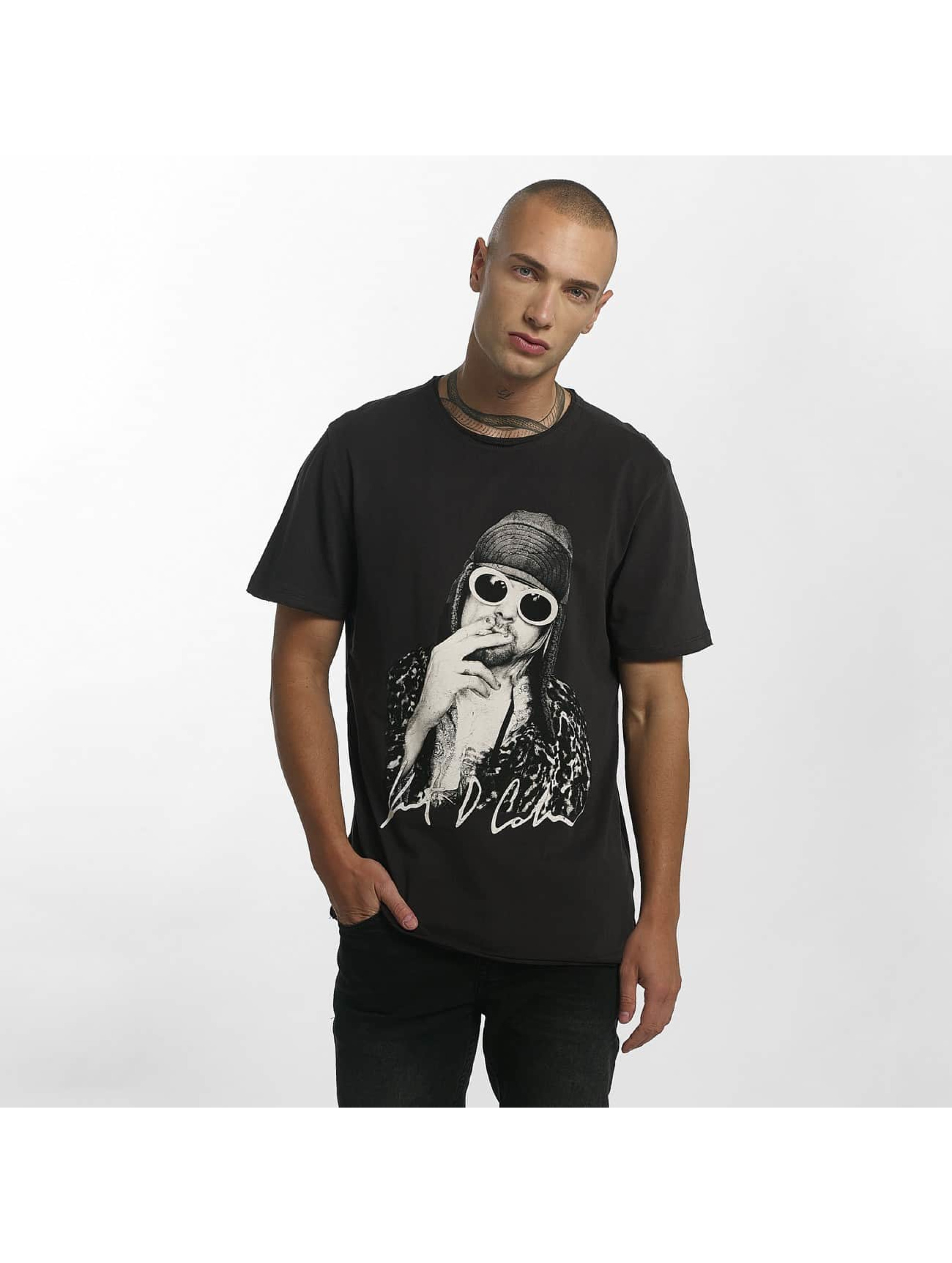Amplified T-Shirt Kurt Cobain Photograph gris