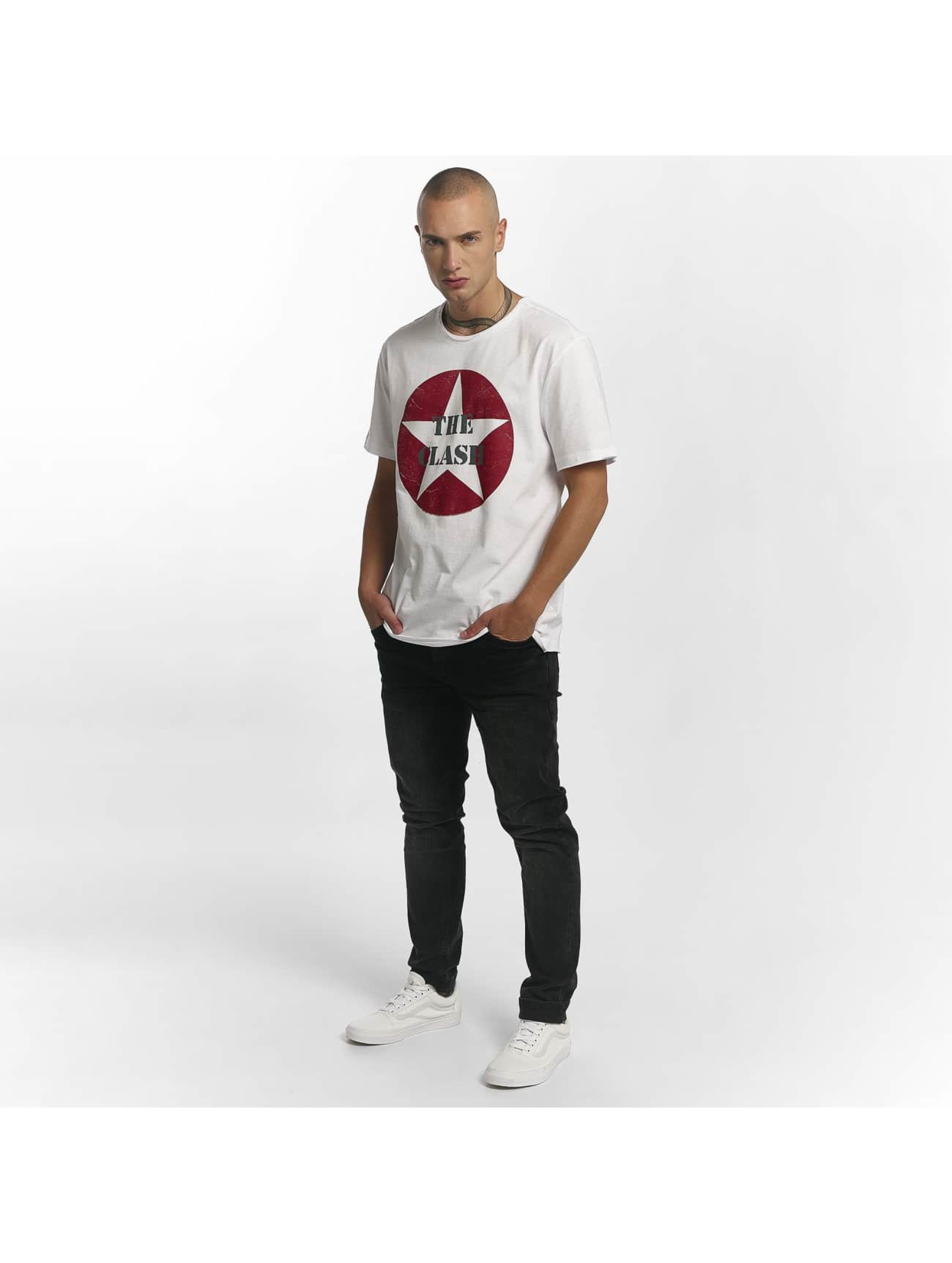 Amplified T-Shirty The Clash Star Logo bialy