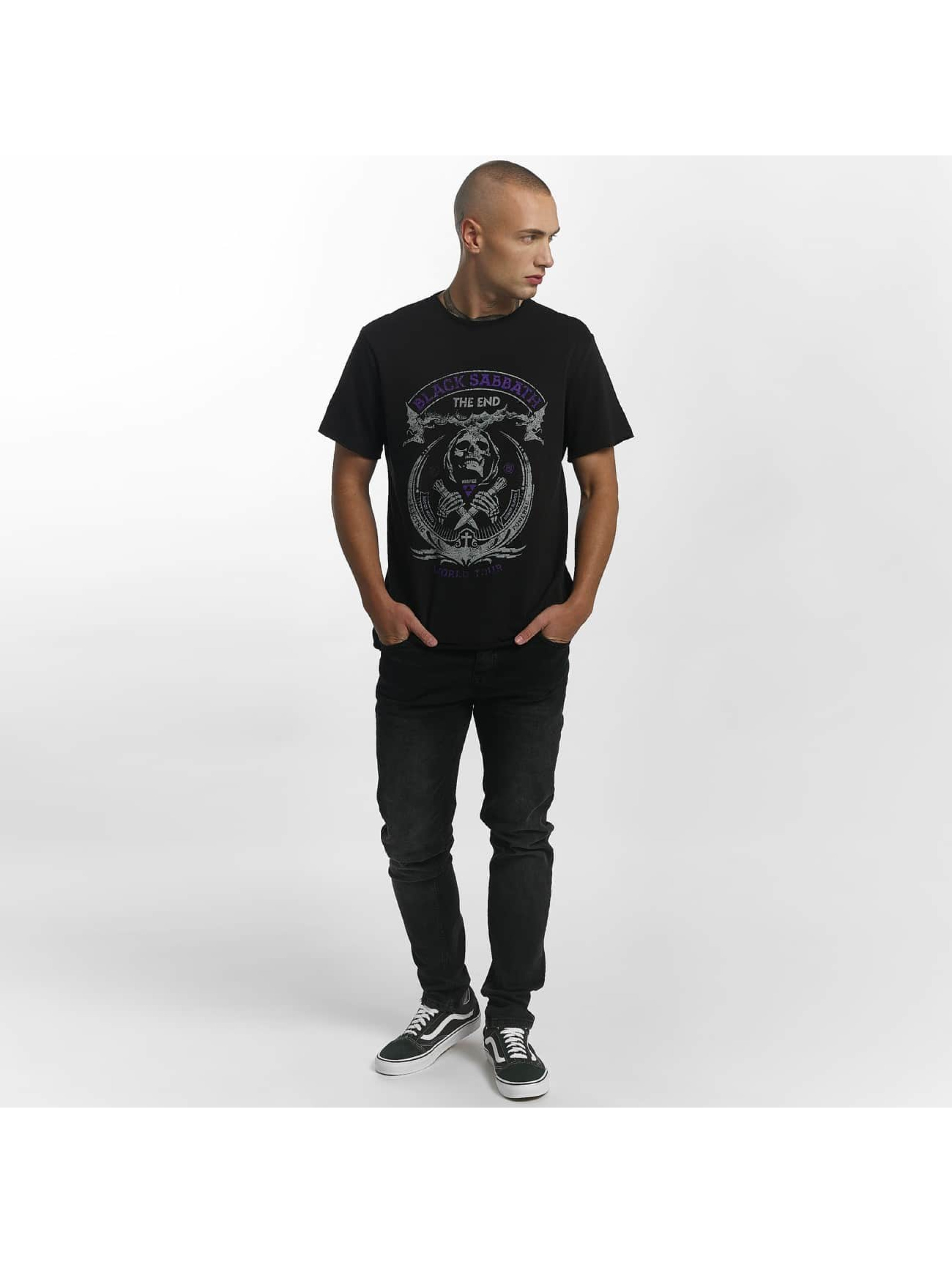 Amplified T-Shirty Black Sabbath The End czarny