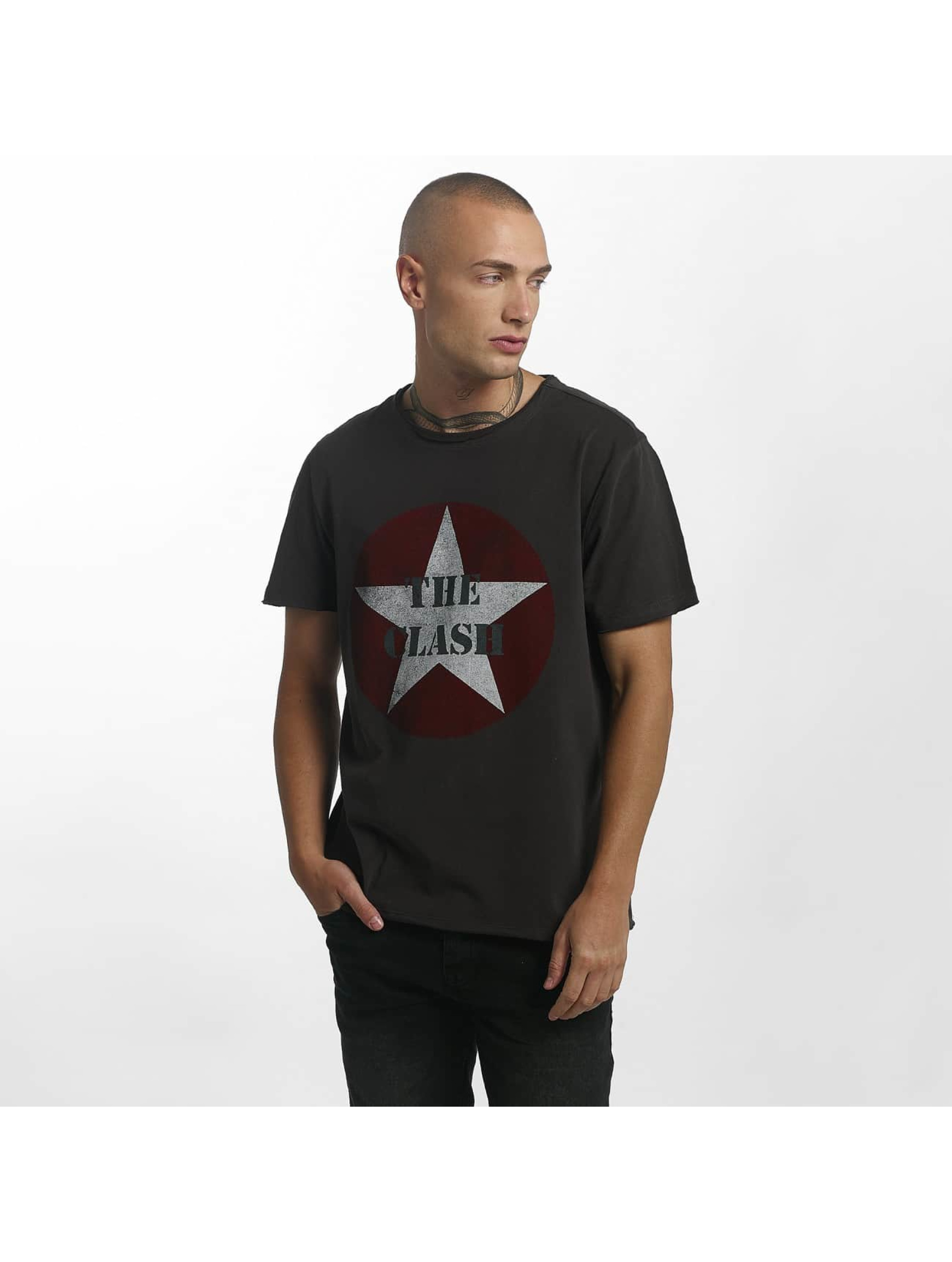 Amplified T-Shirty The Clash Star Logo szary