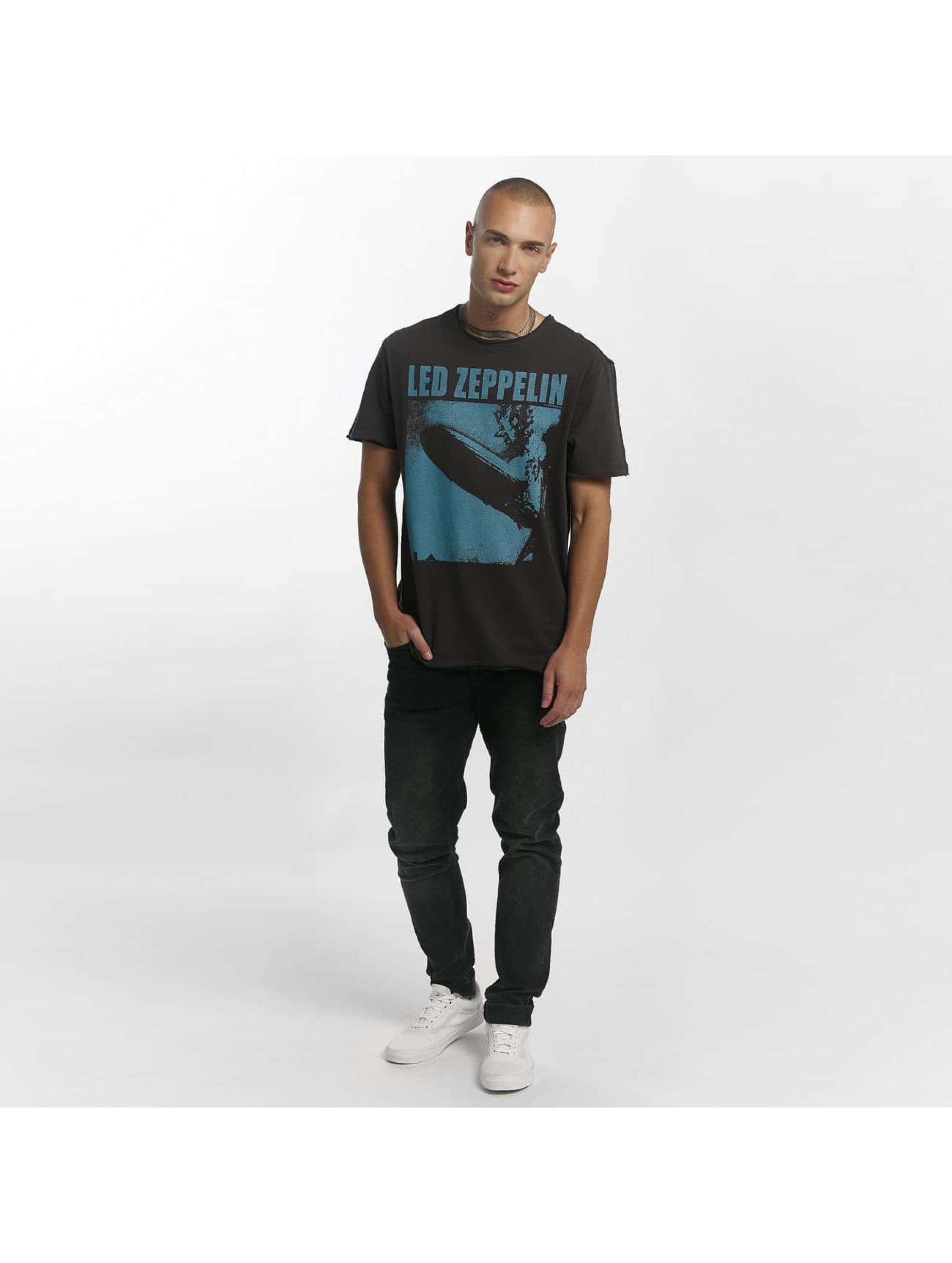 Amplified T-skjorter Led Zeppelin Blimp Square grå