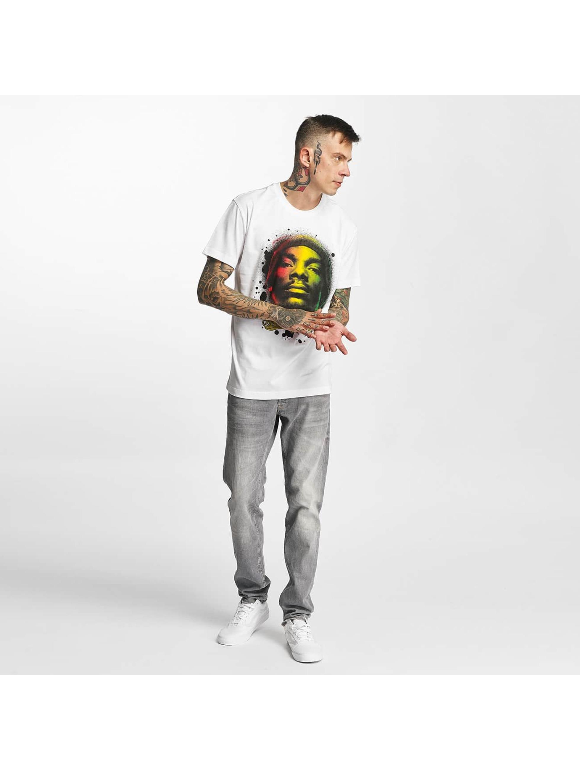 Amplified T-skjorter Snoop Dogg - Rasta hvit