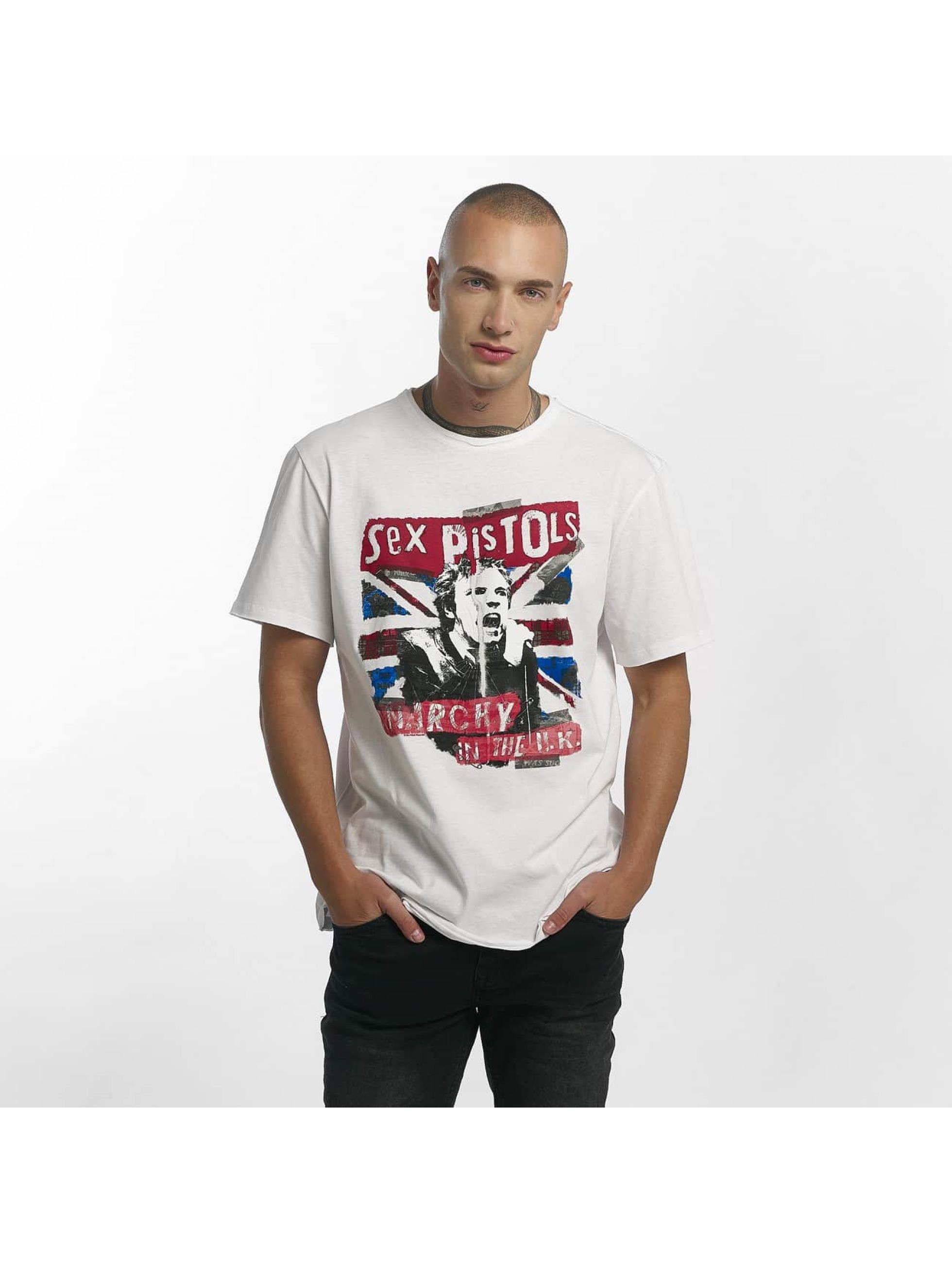 Amplified T-skjorter Sex Pistols Anarchie hvit