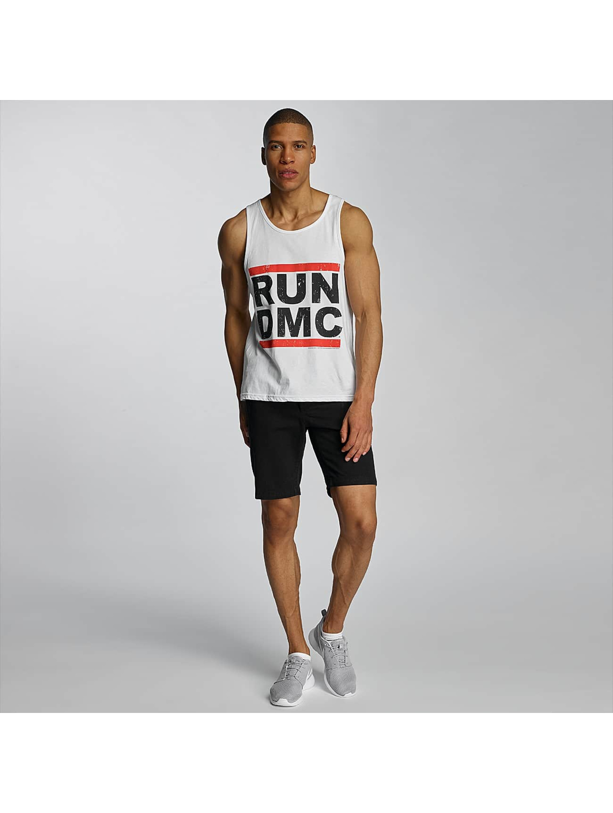 Amplified Tank Tops Run DMC Logo white