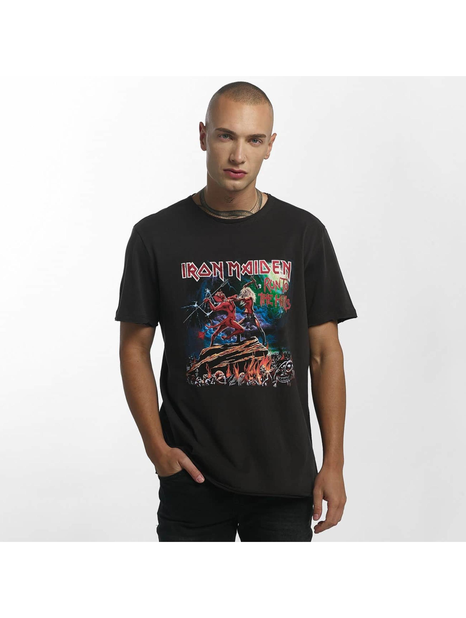 Amplified Tričká Iron Maiden Run To The Hills šedá