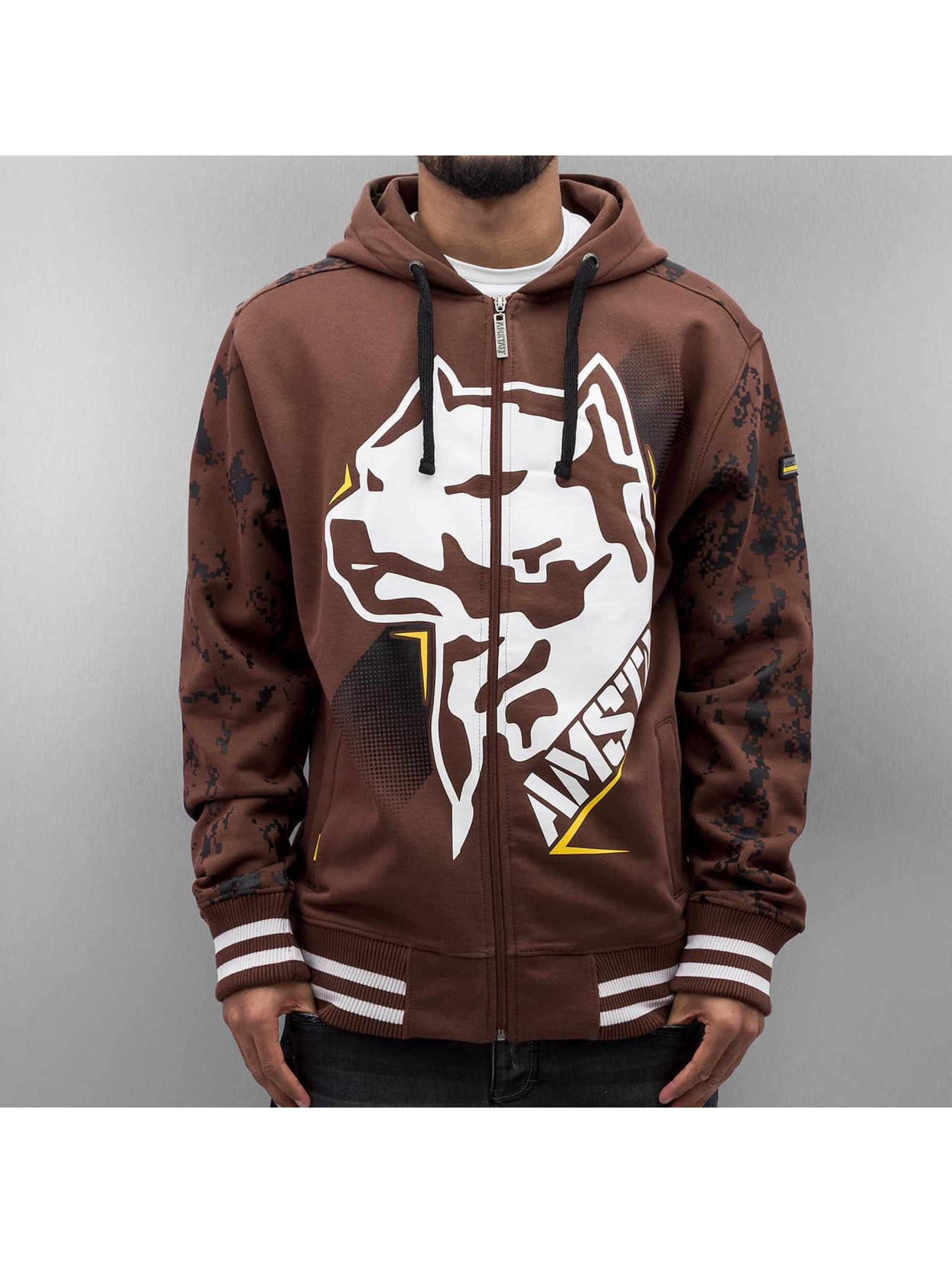Amstaff Hoodies con zip Namru marrone