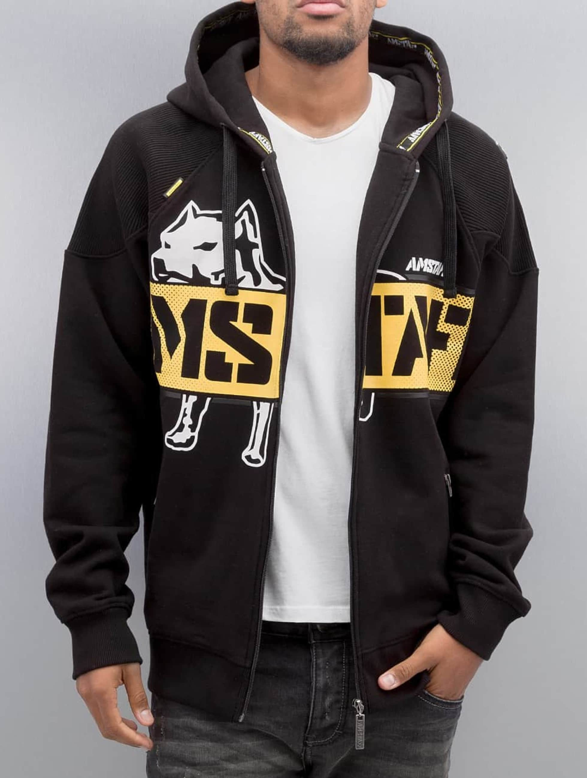 Amstaff Hoodies con zip Toson nero