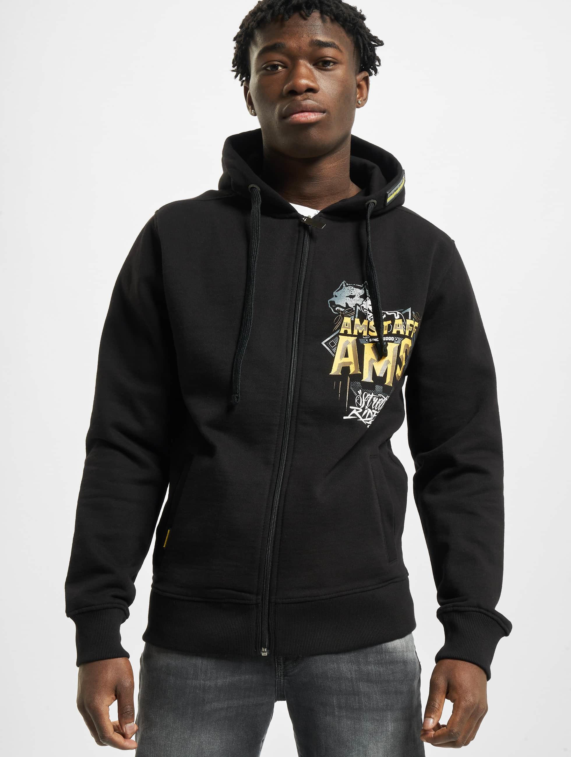 Amstaff Hoodies con zip Harson nero