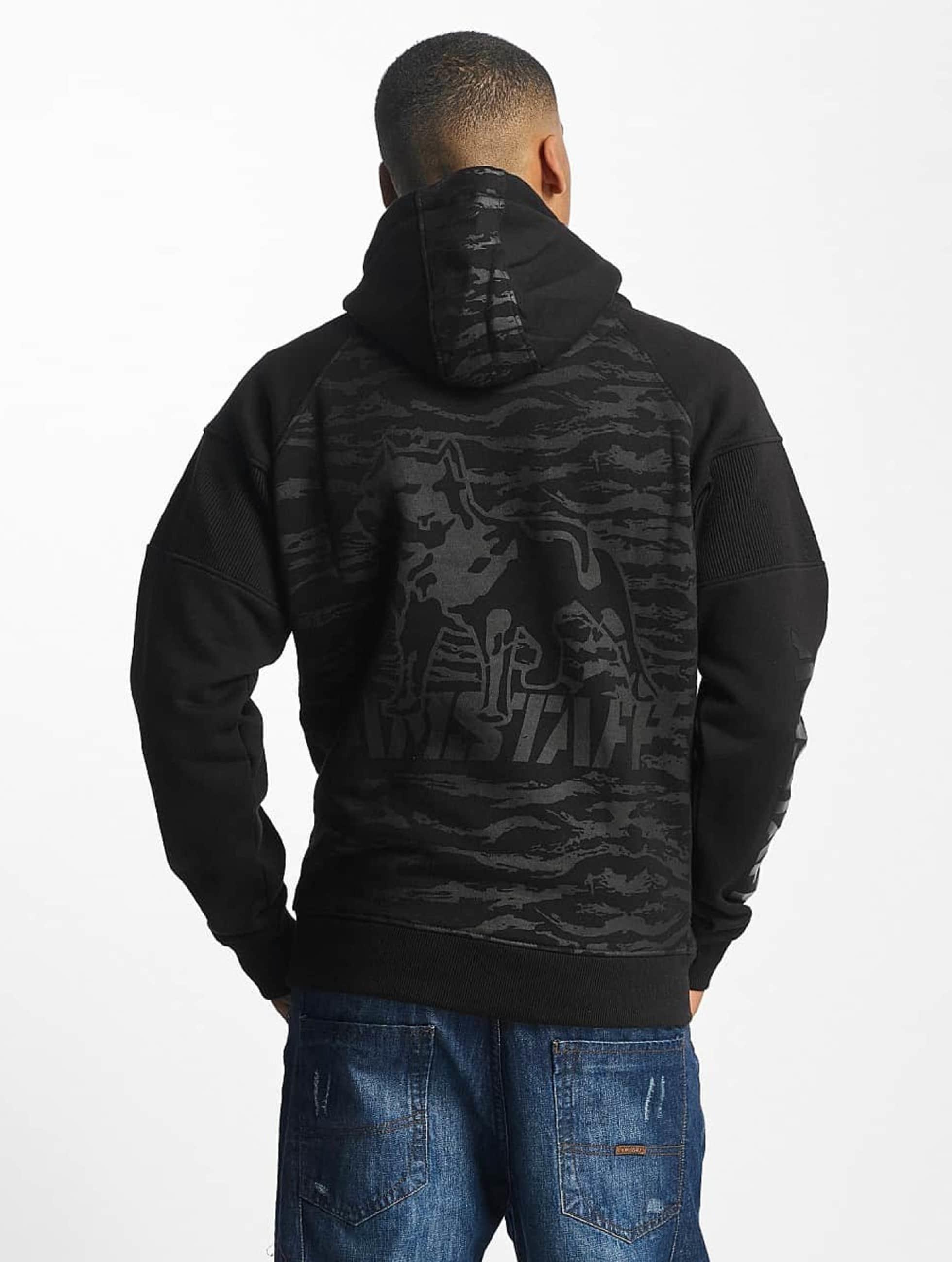 Amstaff Hoodies con zip Zervis nero