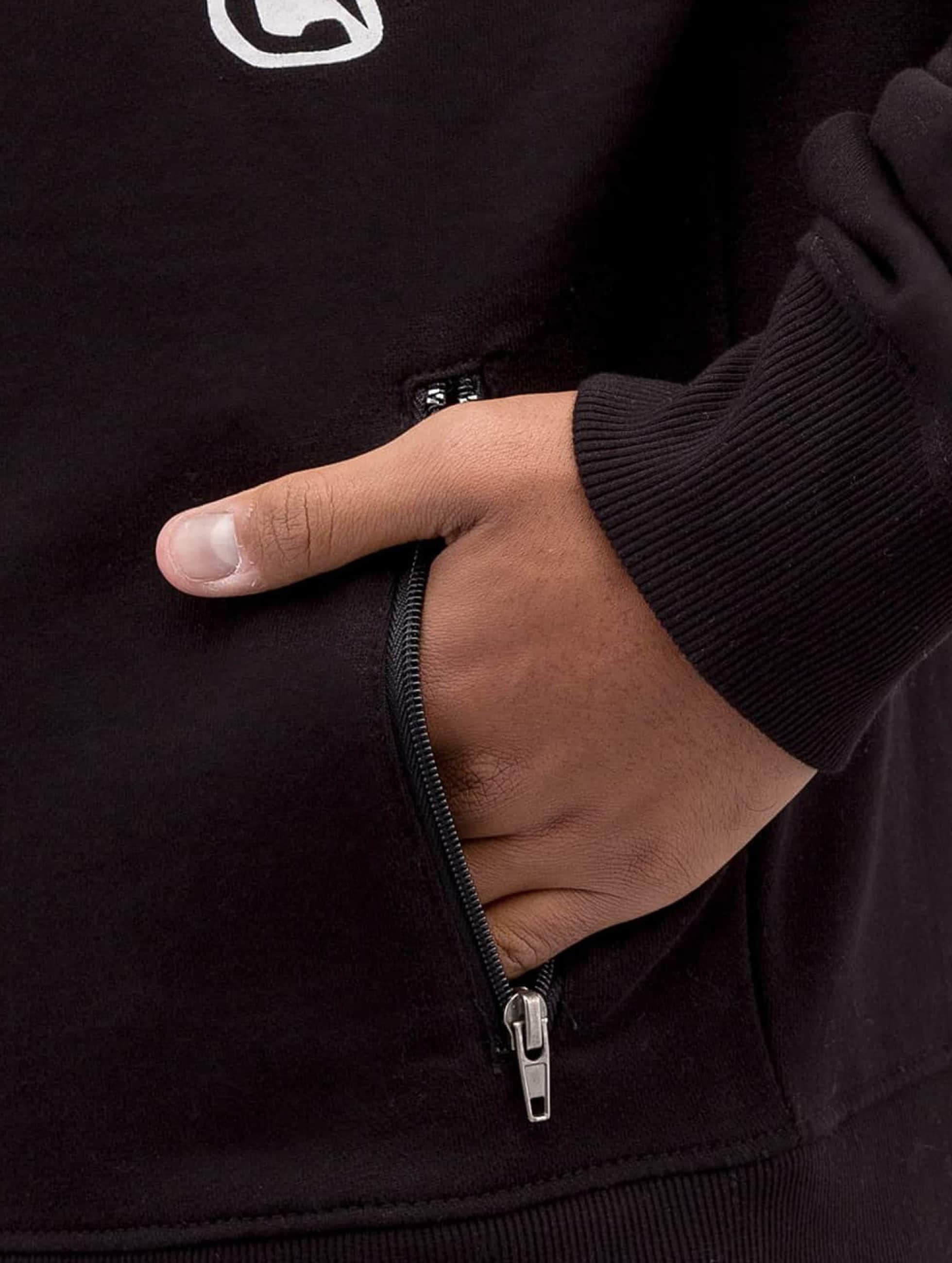 Amstaff Sweat capuche zippé Toson noir