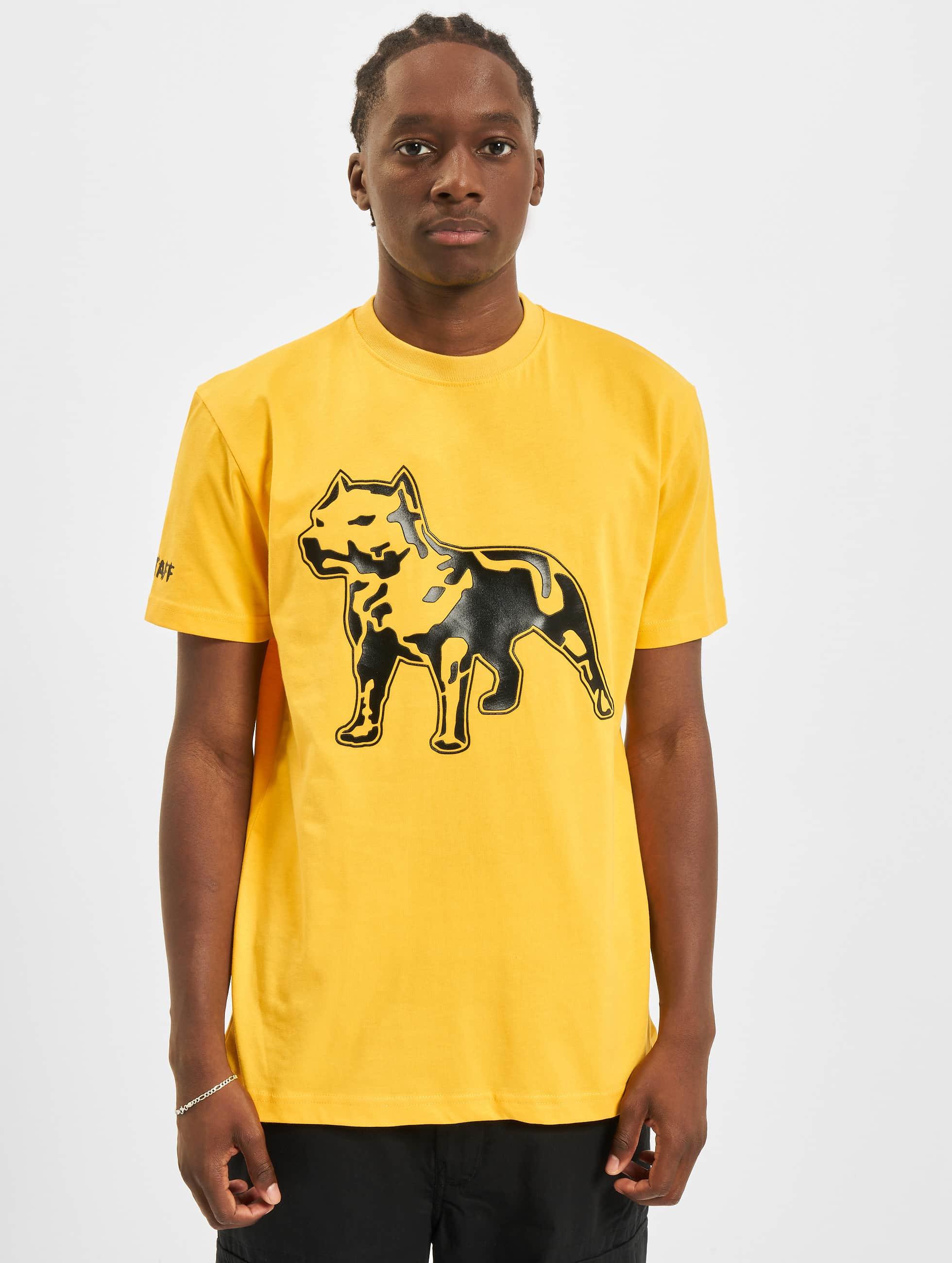 Amstaff T-paidat Logo keltainen