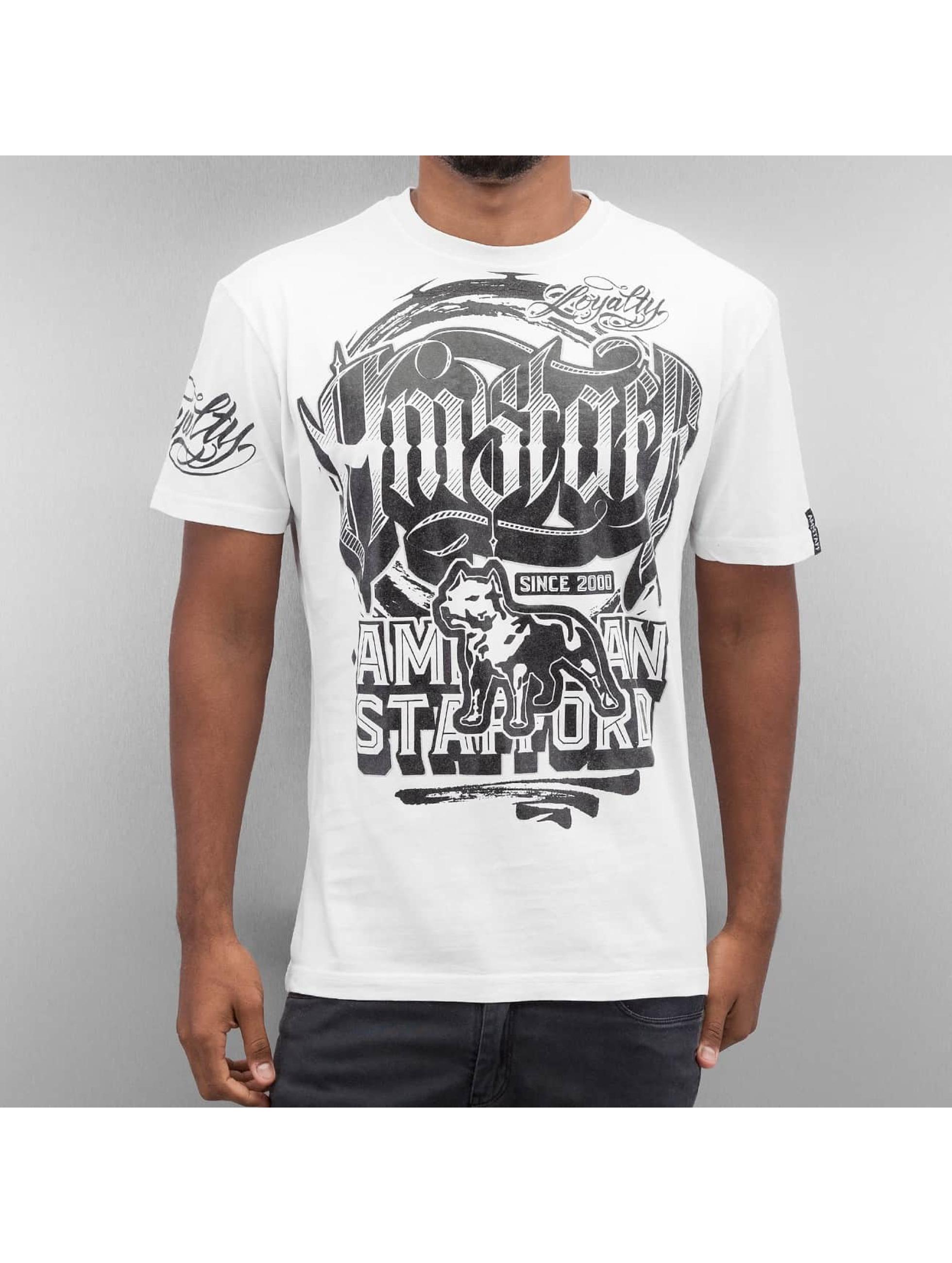 Amstaff T-paidat Korsos valkoinen