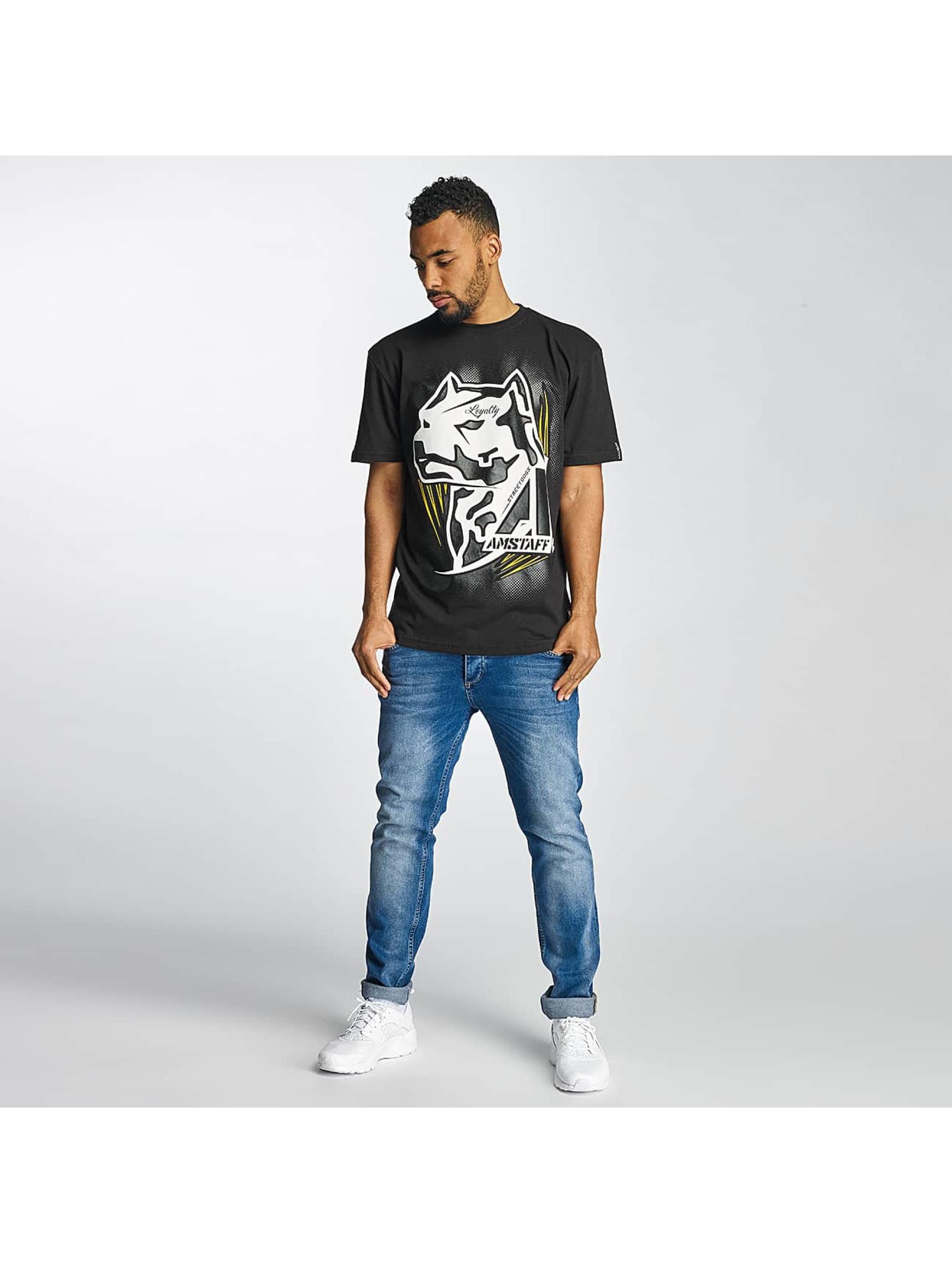 Amstaff T-Shirt Gunnes noir