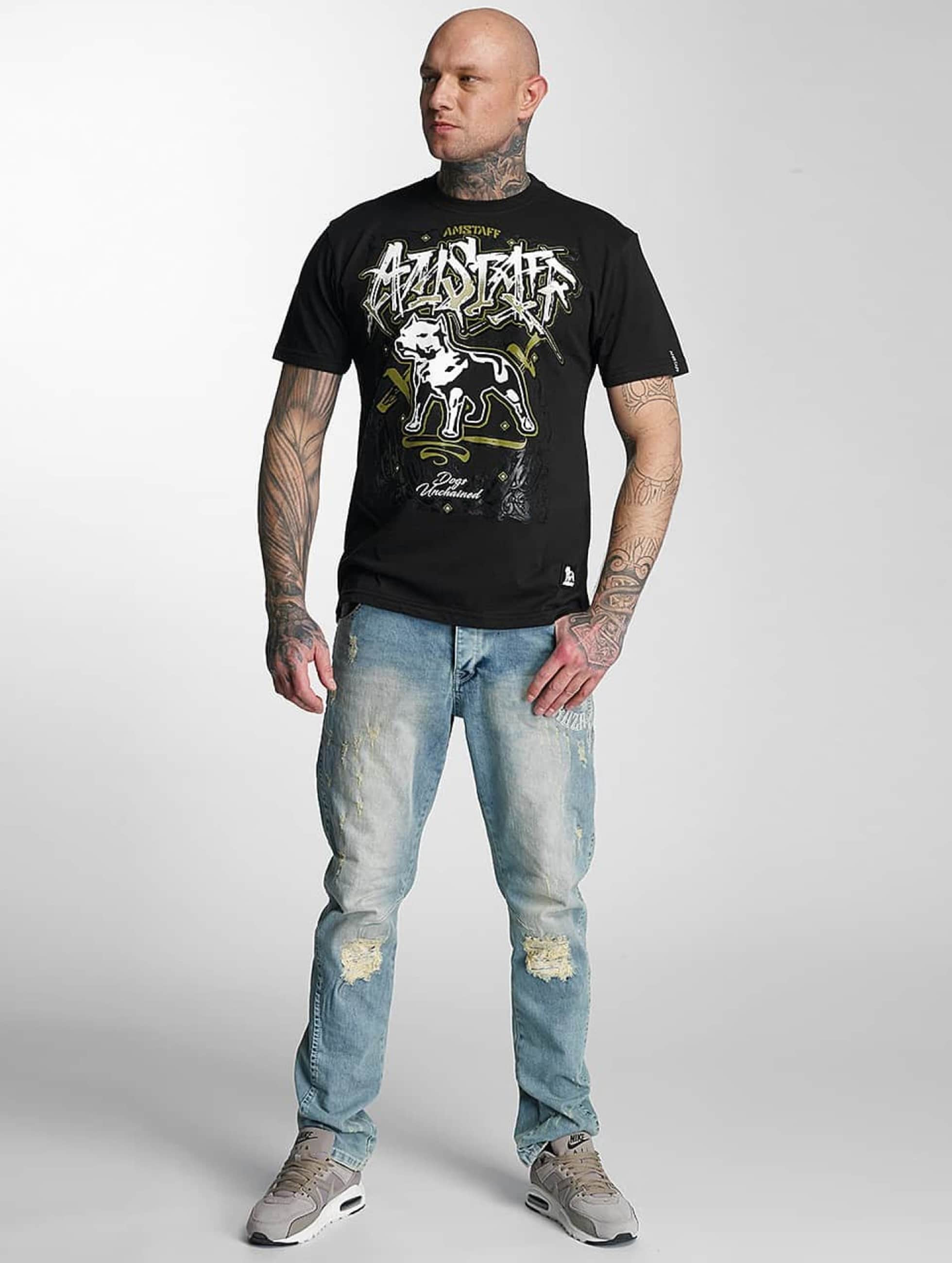 Amstaff T-Shirt Bakur noir
