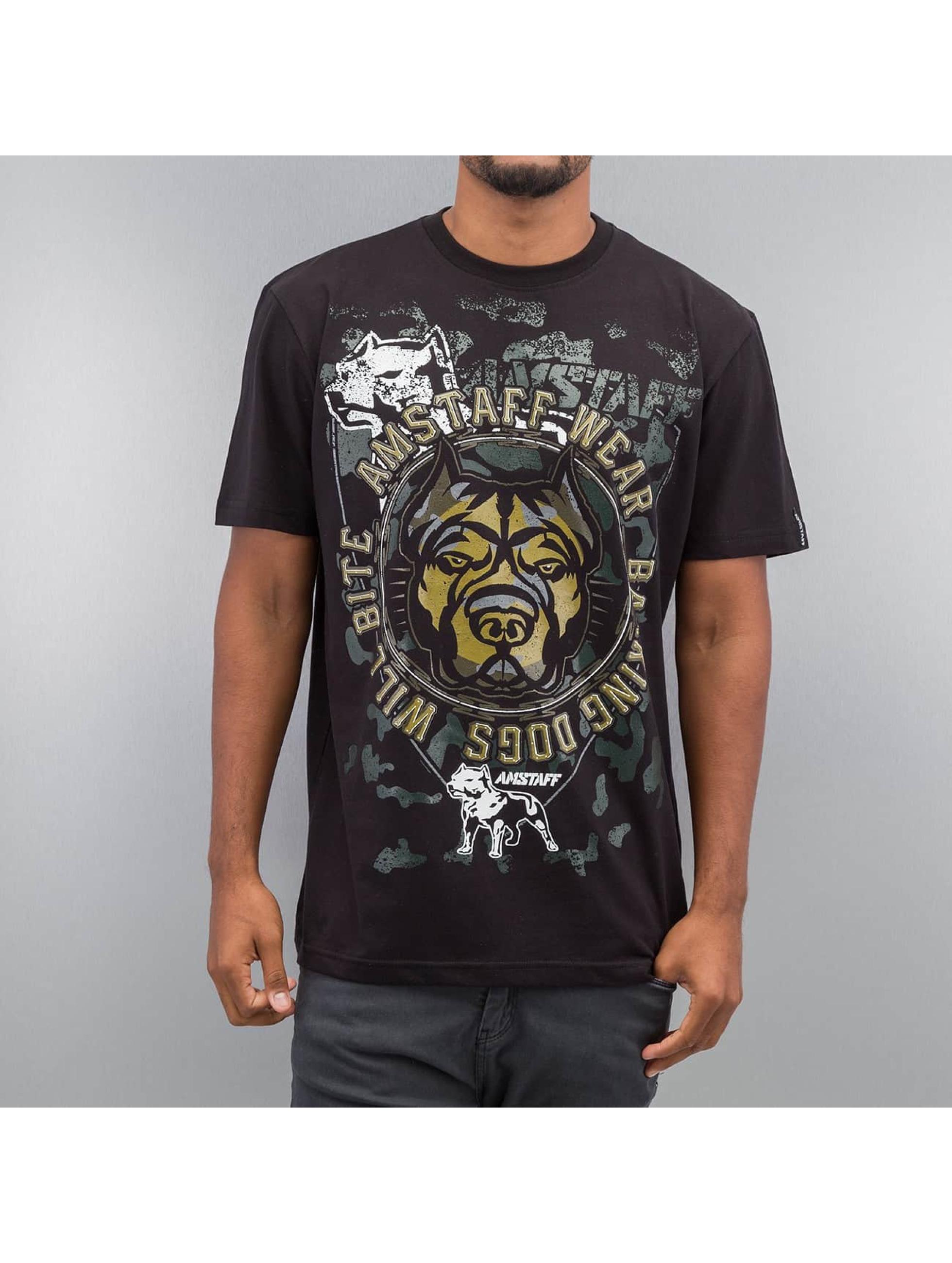 Amstaff T-Shirt Pavan schwarz