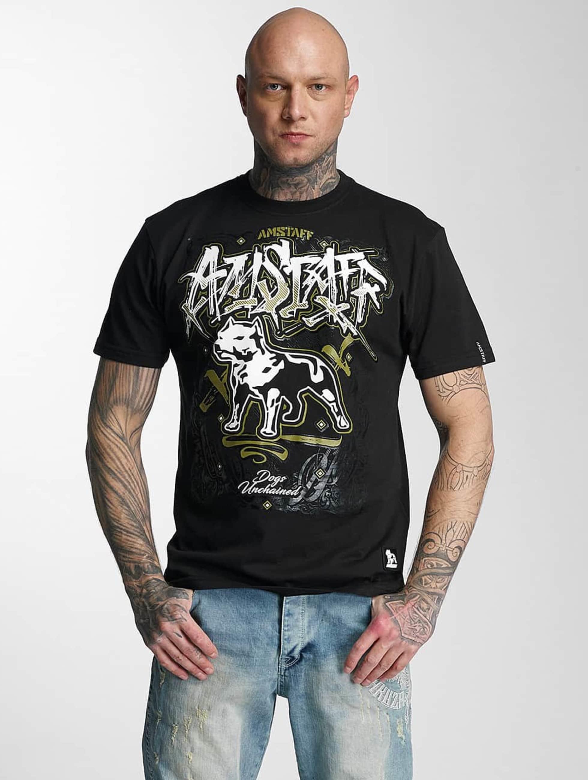 Amstaff T-Shirt Bakur schwarz