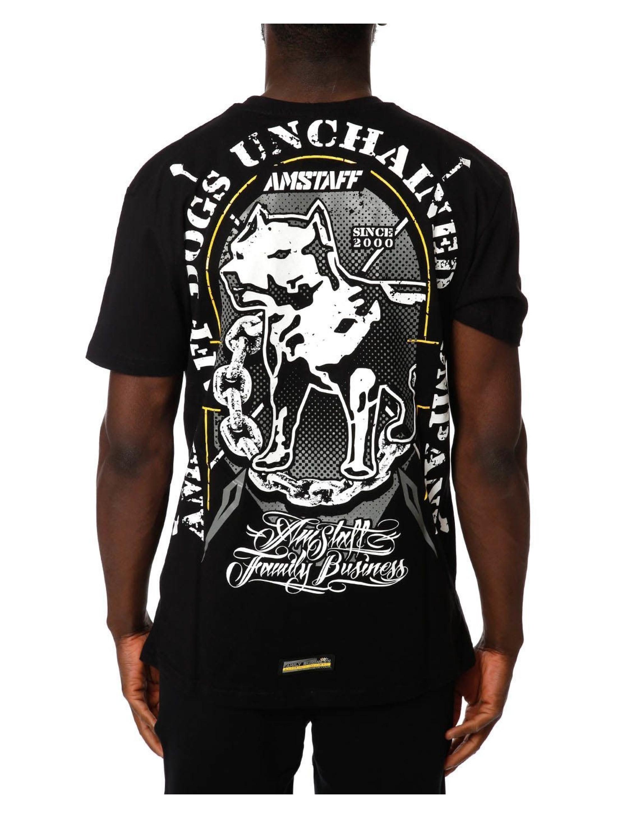 Amstaff T-Shirty Galan czarny