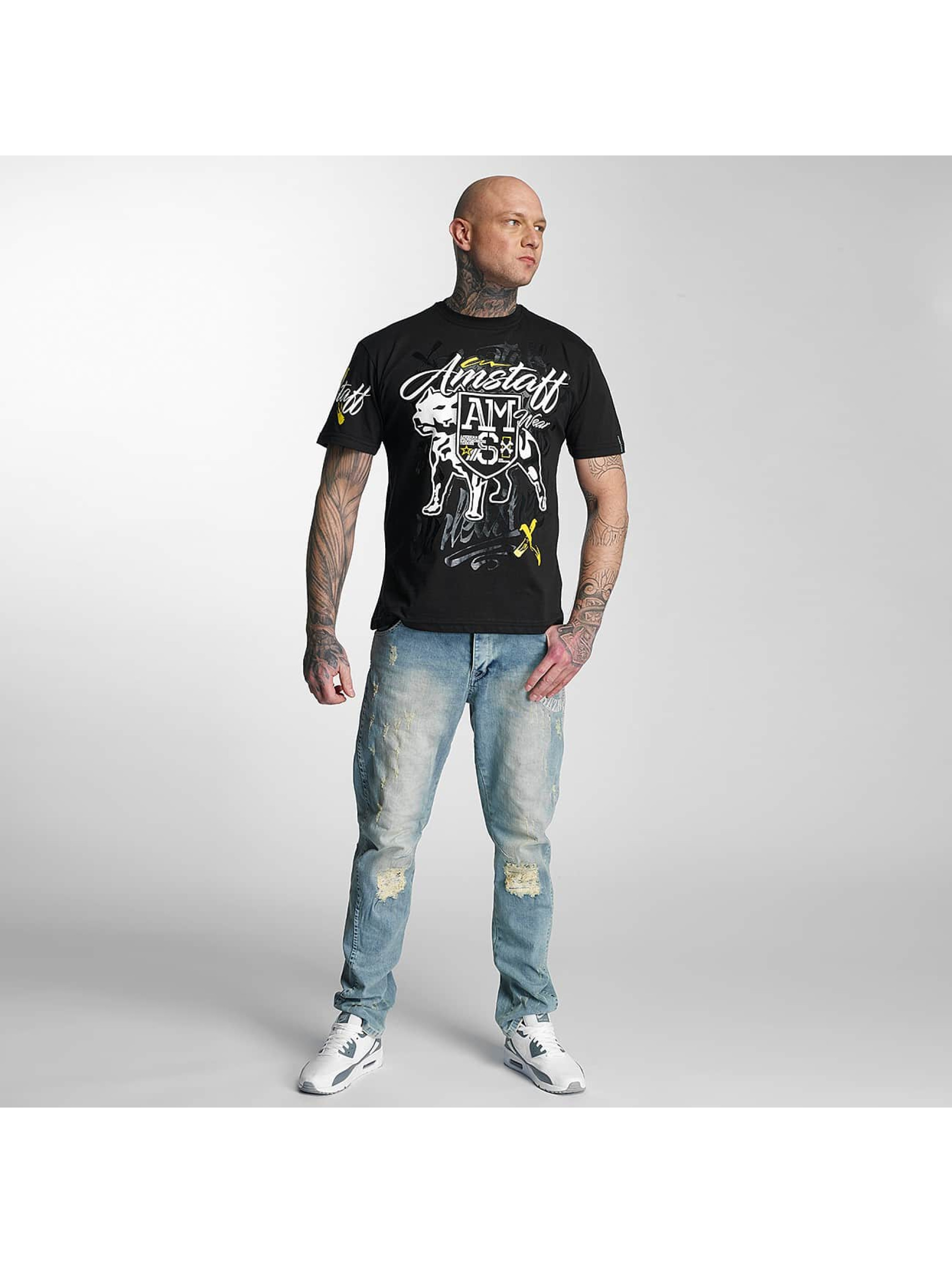 Amstaff T-Shirty Canis czarny