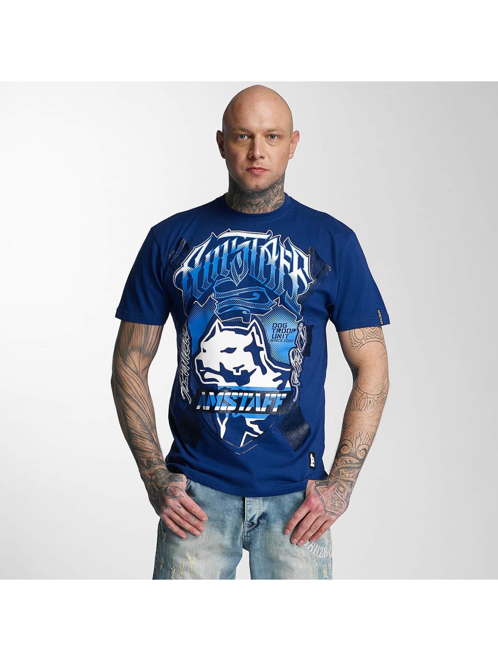 Amstaff T-skjorter Zillus blå