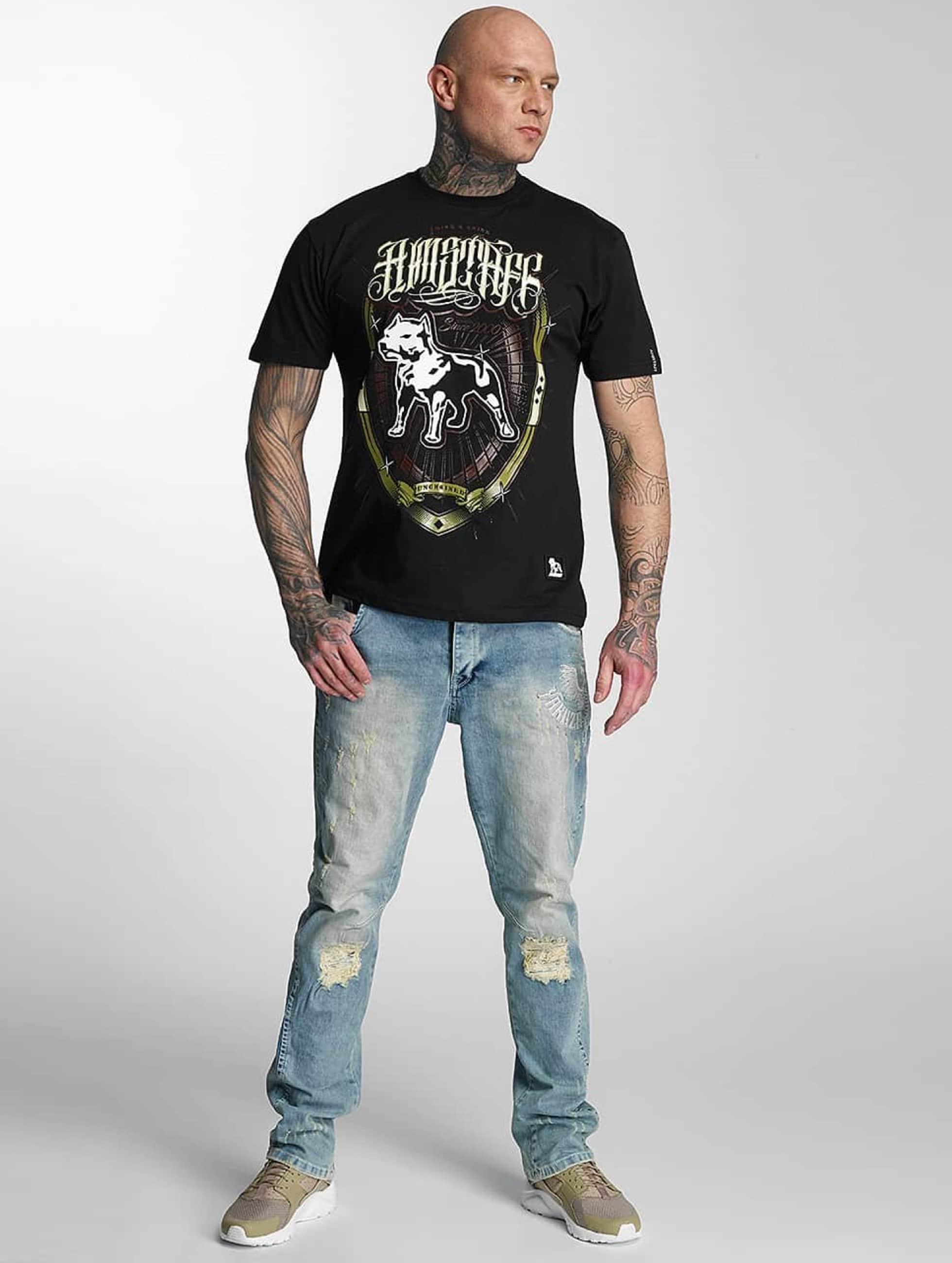 Amstaff T-skjorter Royalis svart