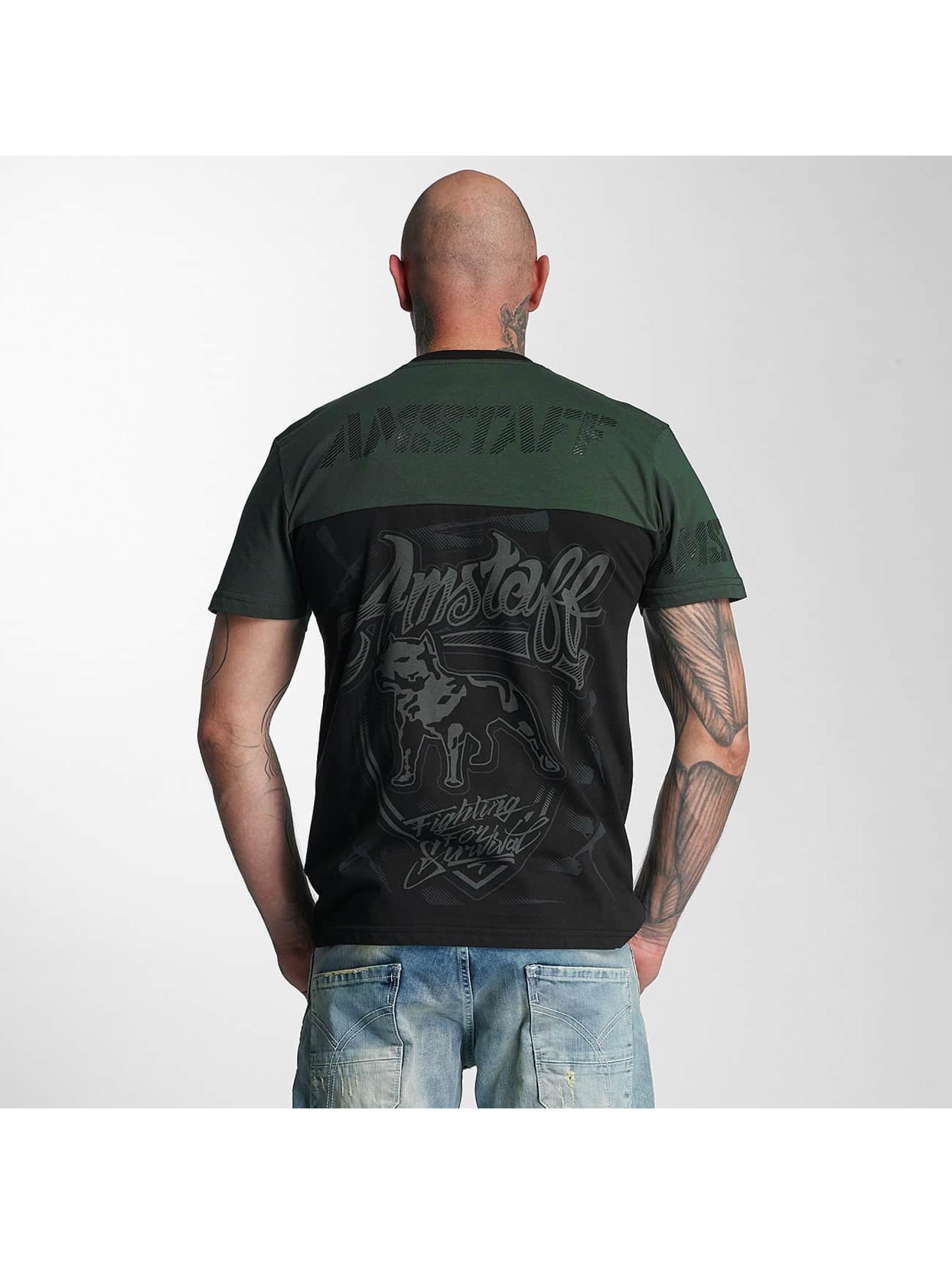 Amstaff T-skjorter Lizard svart