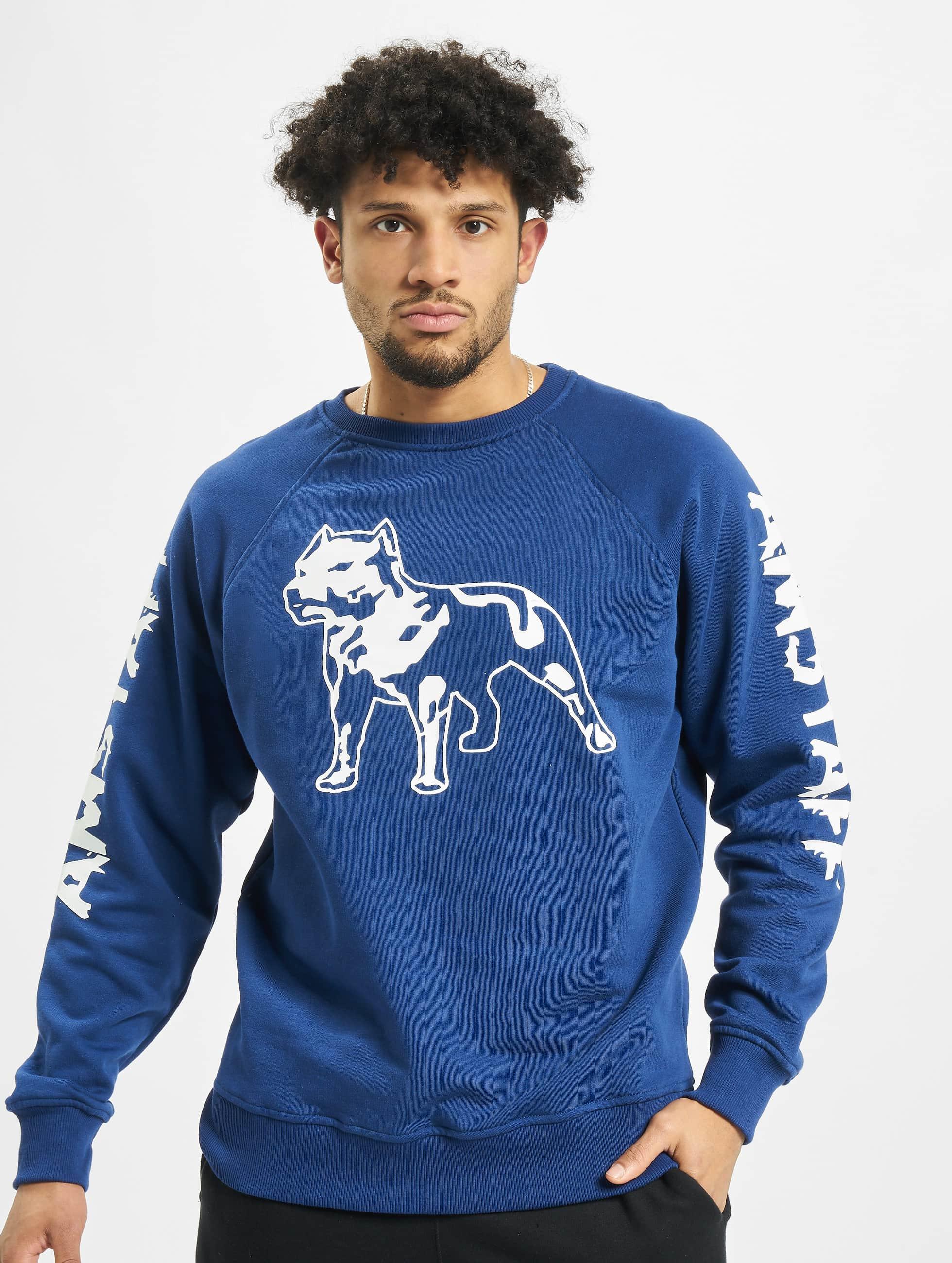 Amstaff trui Logo blauw