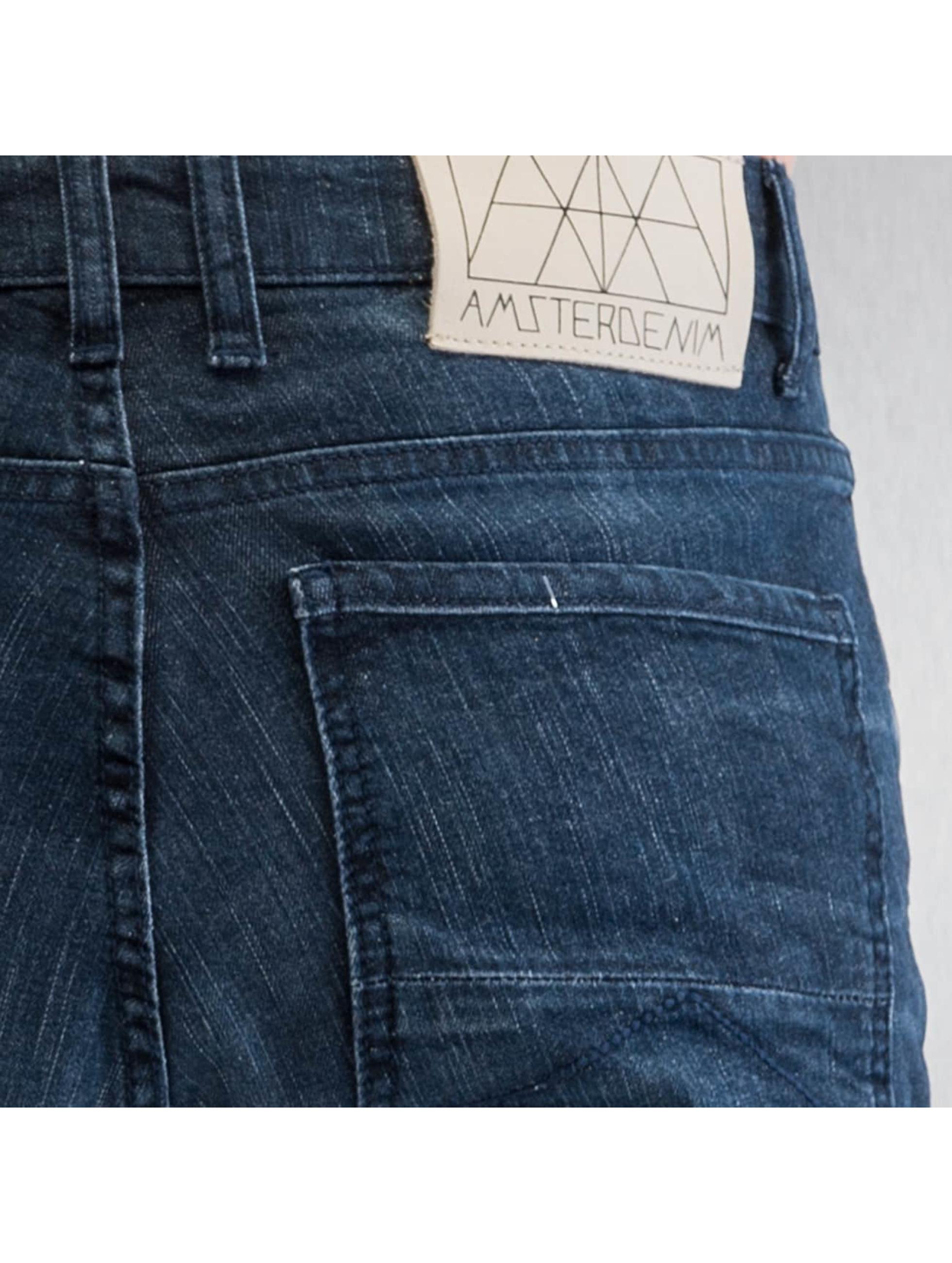 Amsterdenim Облегающие джинсы Wash синий