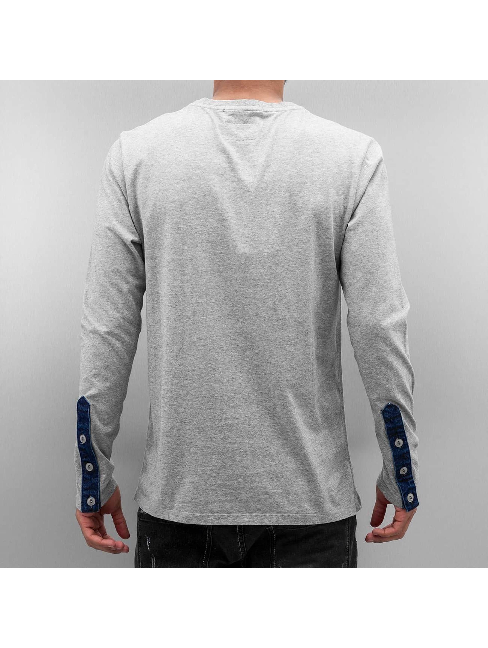 Amsterdenim Camiseta de manga larga Hendriku gris