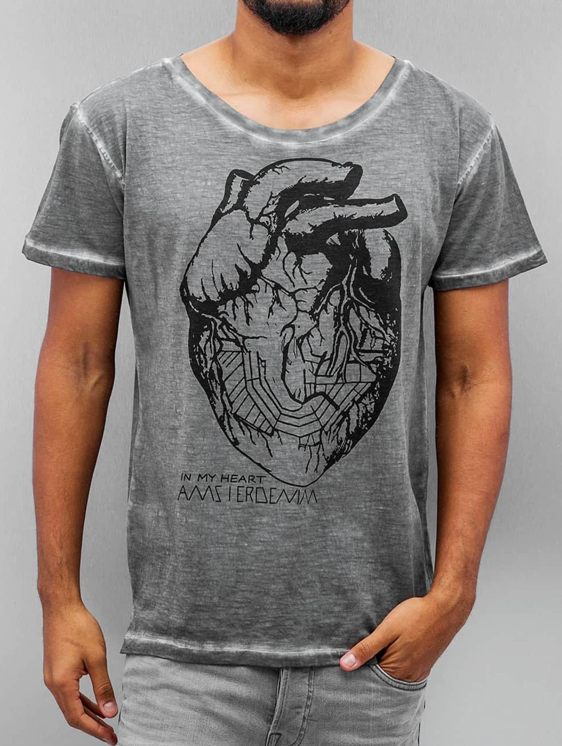 Amsterdenim Camiseta Floris gris