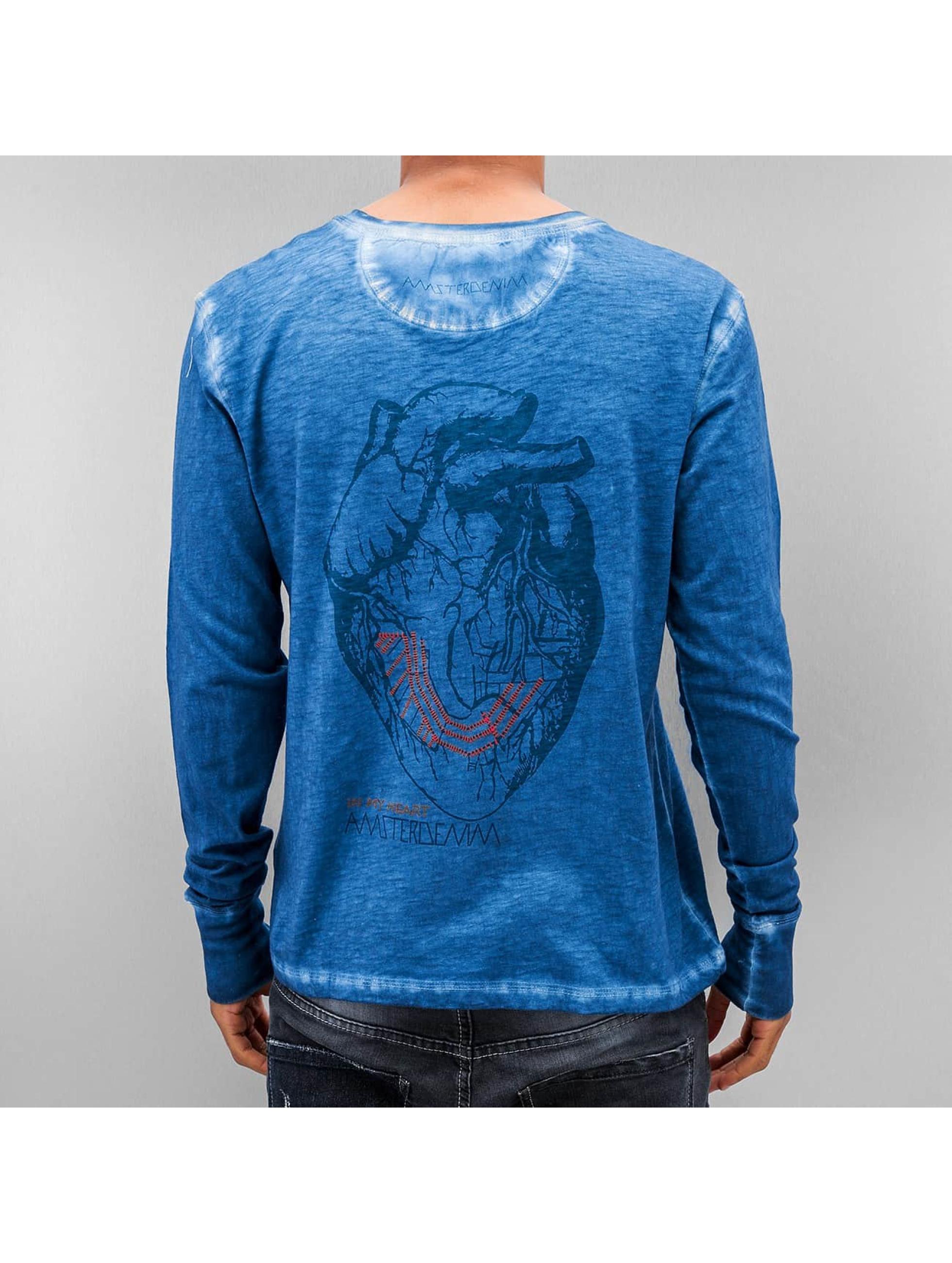 Amsterdenim Maglietta a manica lunga Jeen Hart blu