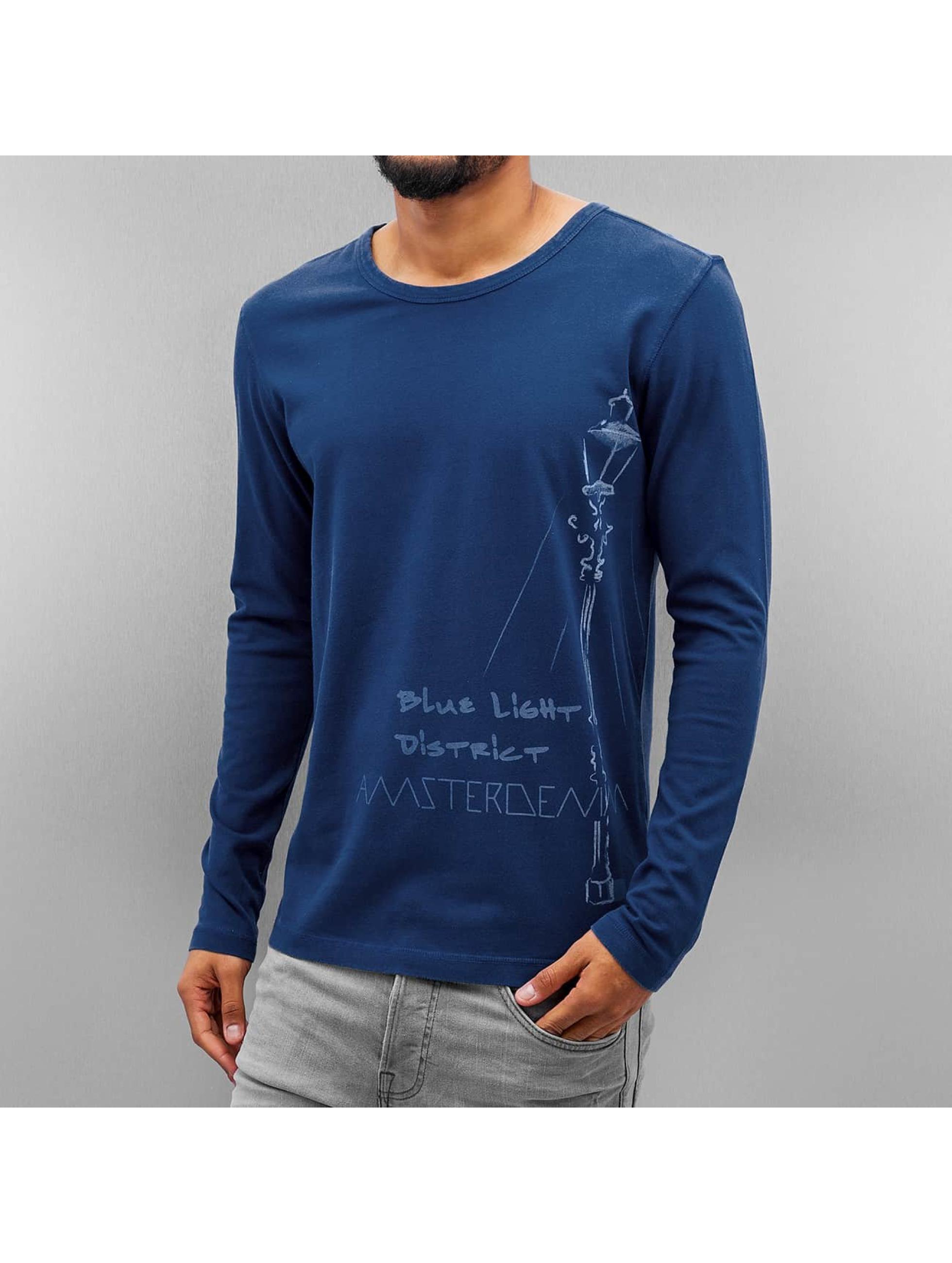 Amsterdenim Maglietta a manica lunga Nelis blu