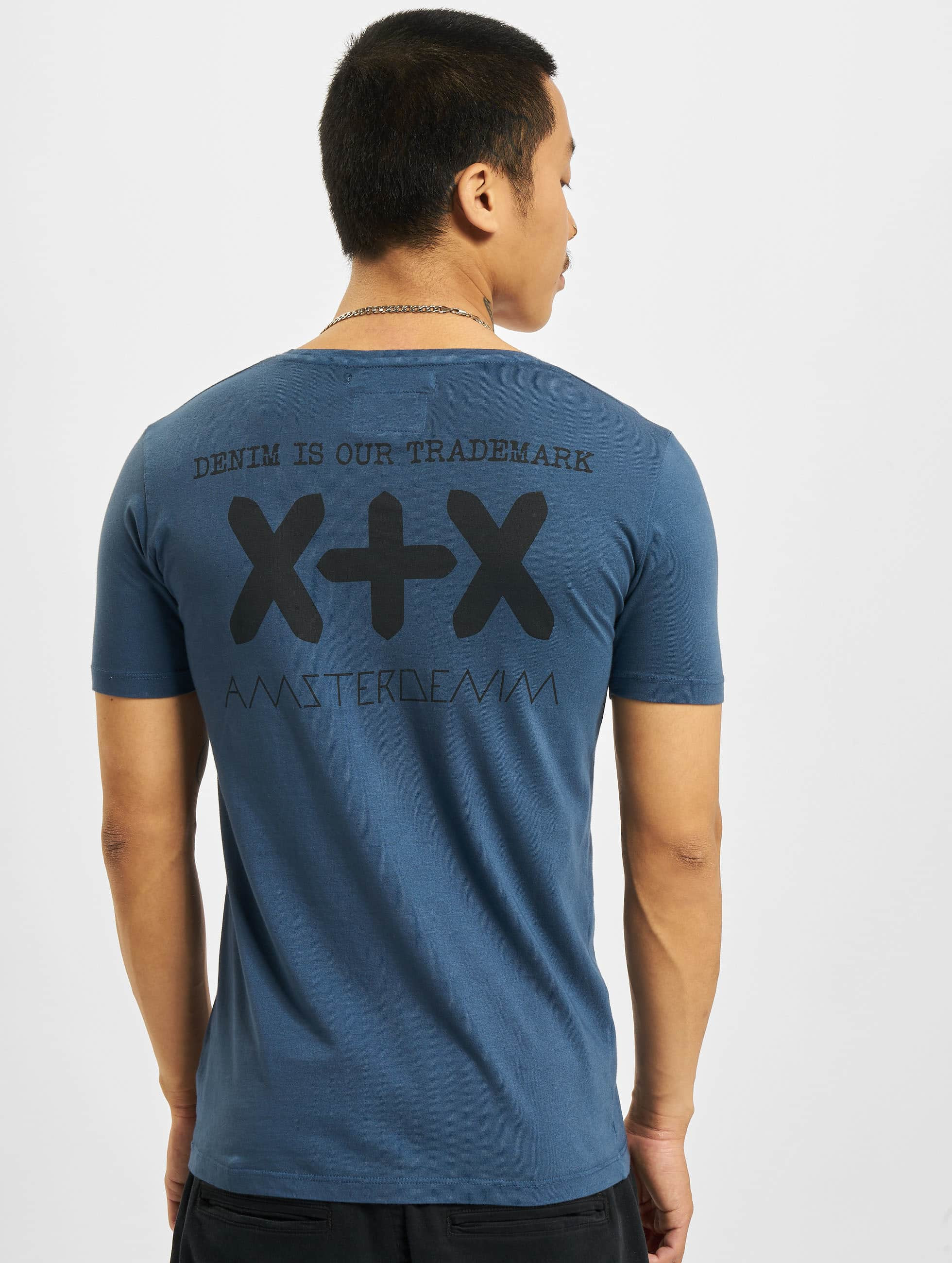 Amsterdenim t-shirt Vin blauw