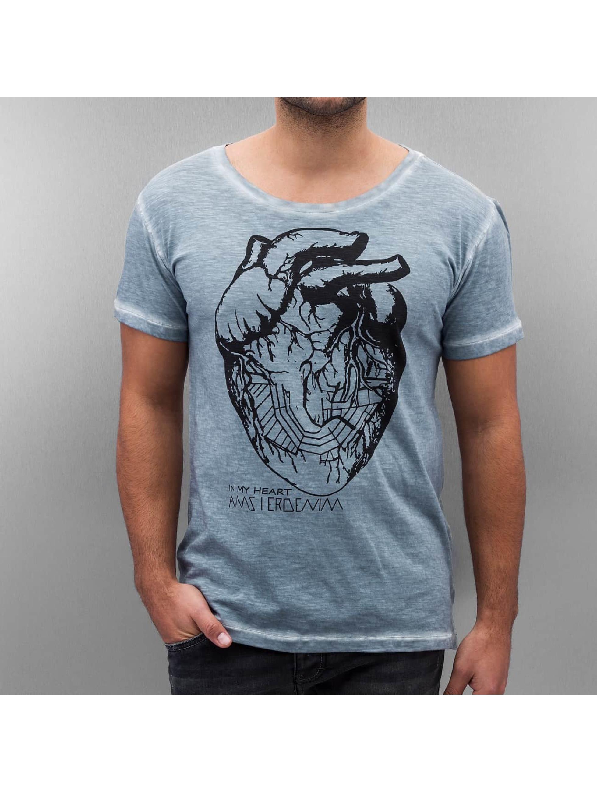 Amsterdenim T-shirt Floris blu