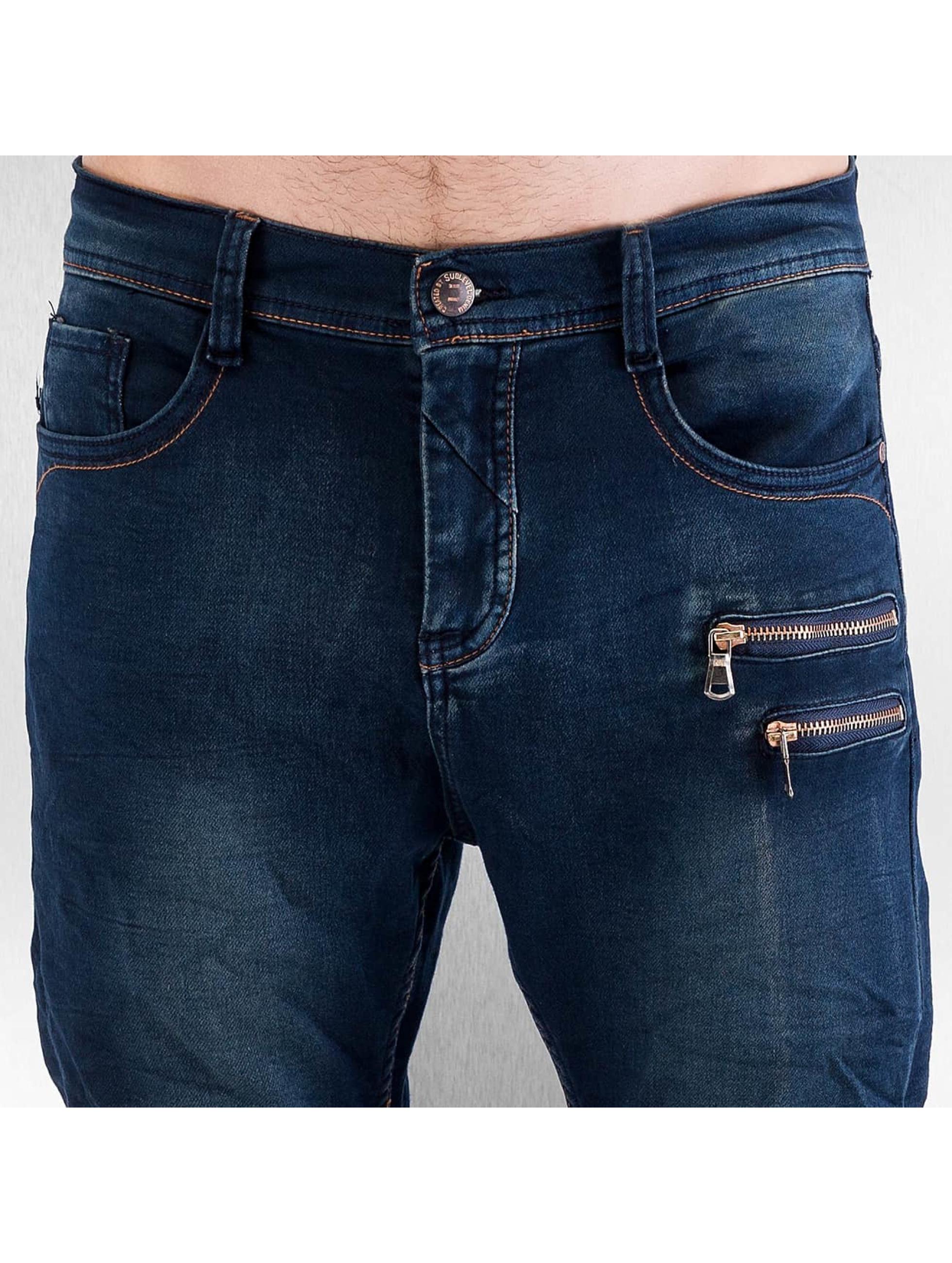 Authentic Style Облегающие джинсы Jogger синий