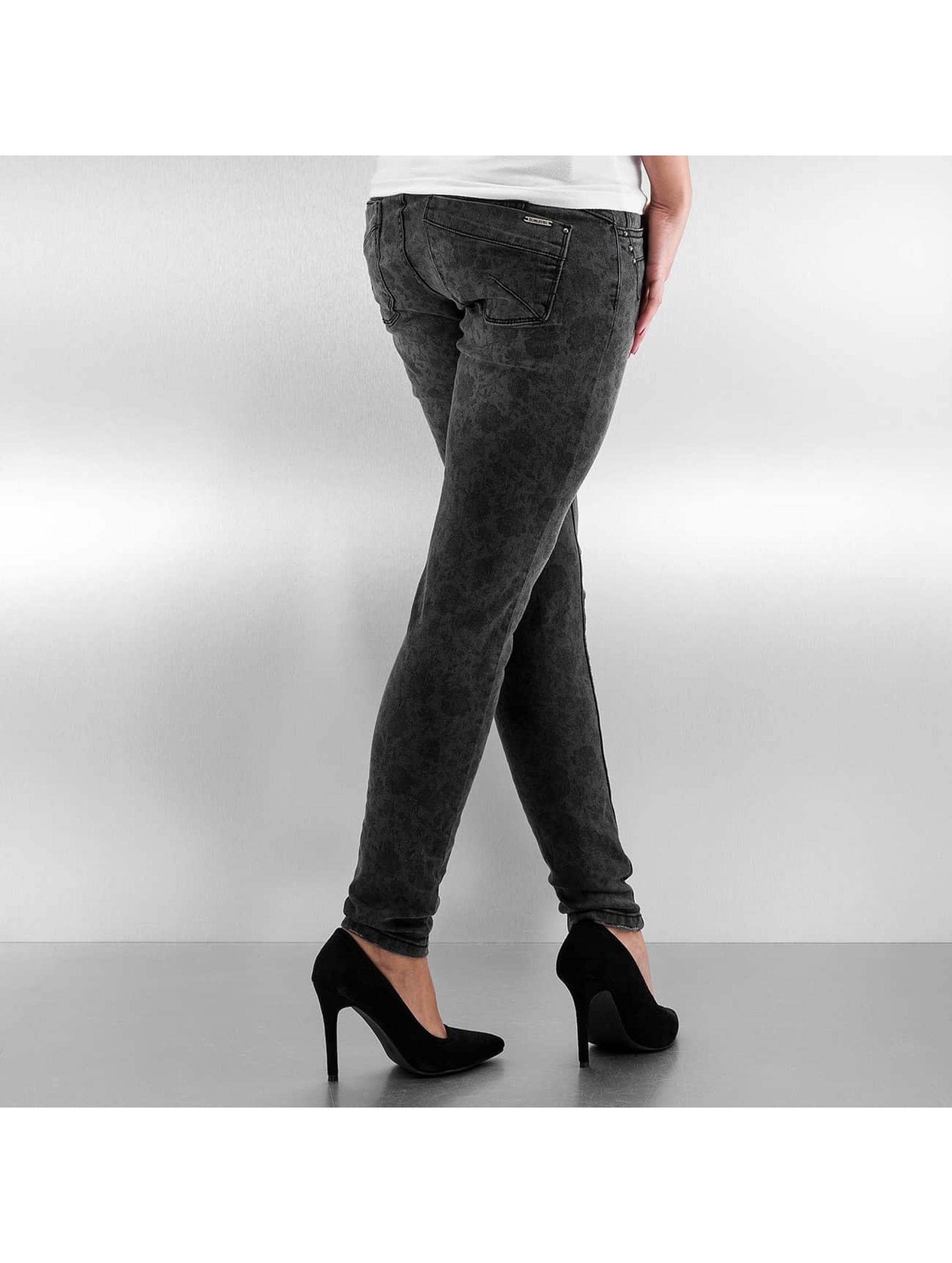 Authentic Style Облегающие джинсы Roses черный