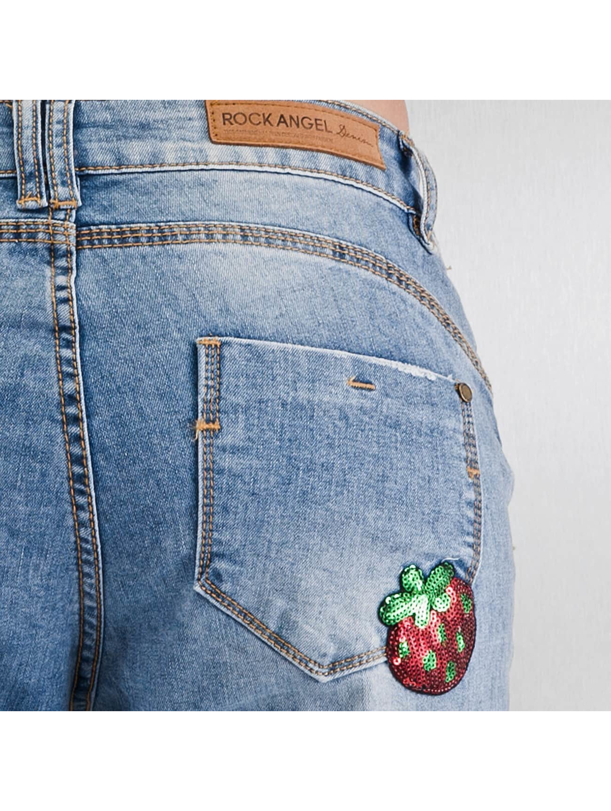 Authentic Style Jean large Rosie Badges bleu