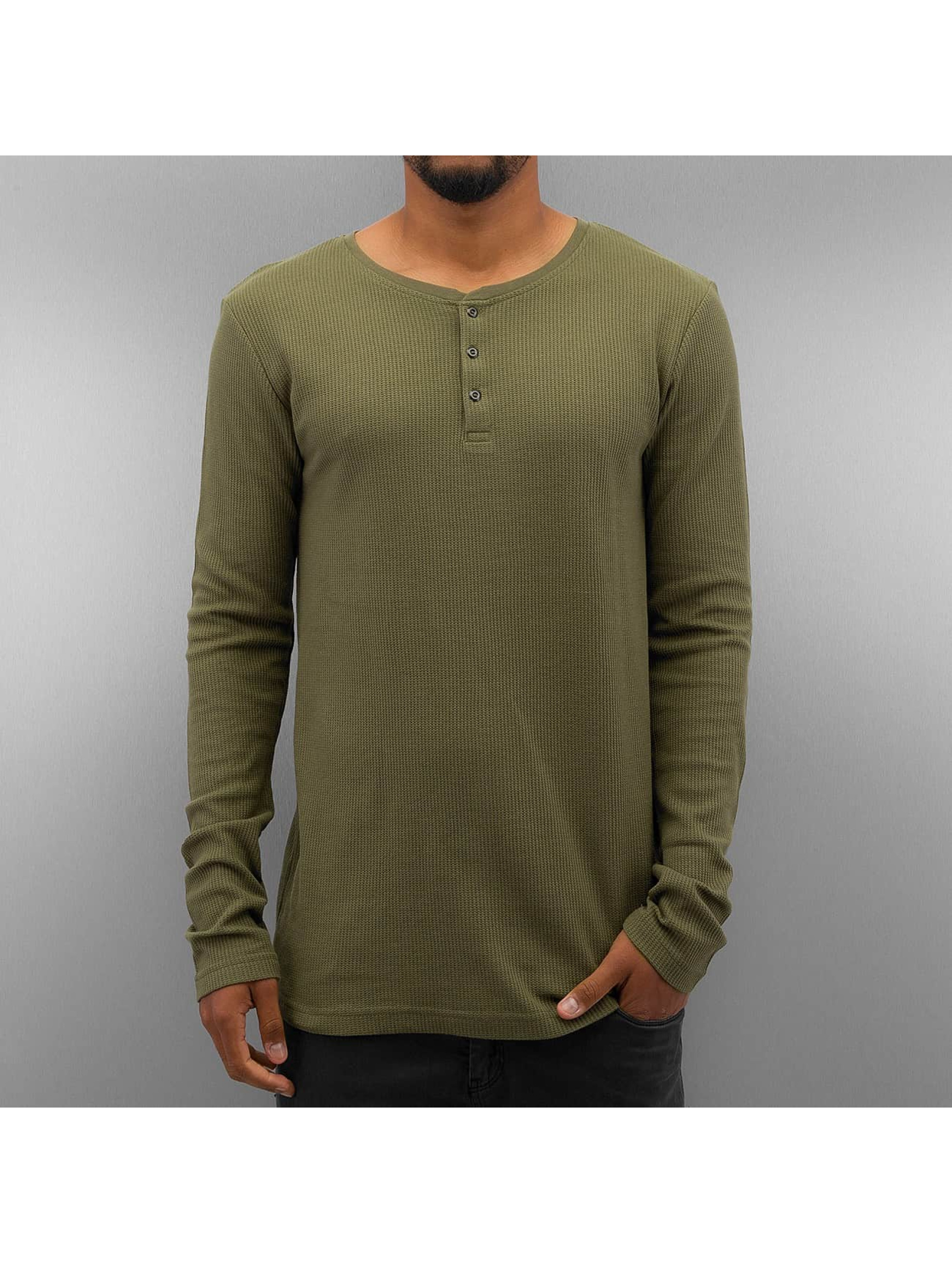 Authentic Style Langermet Henley oliven