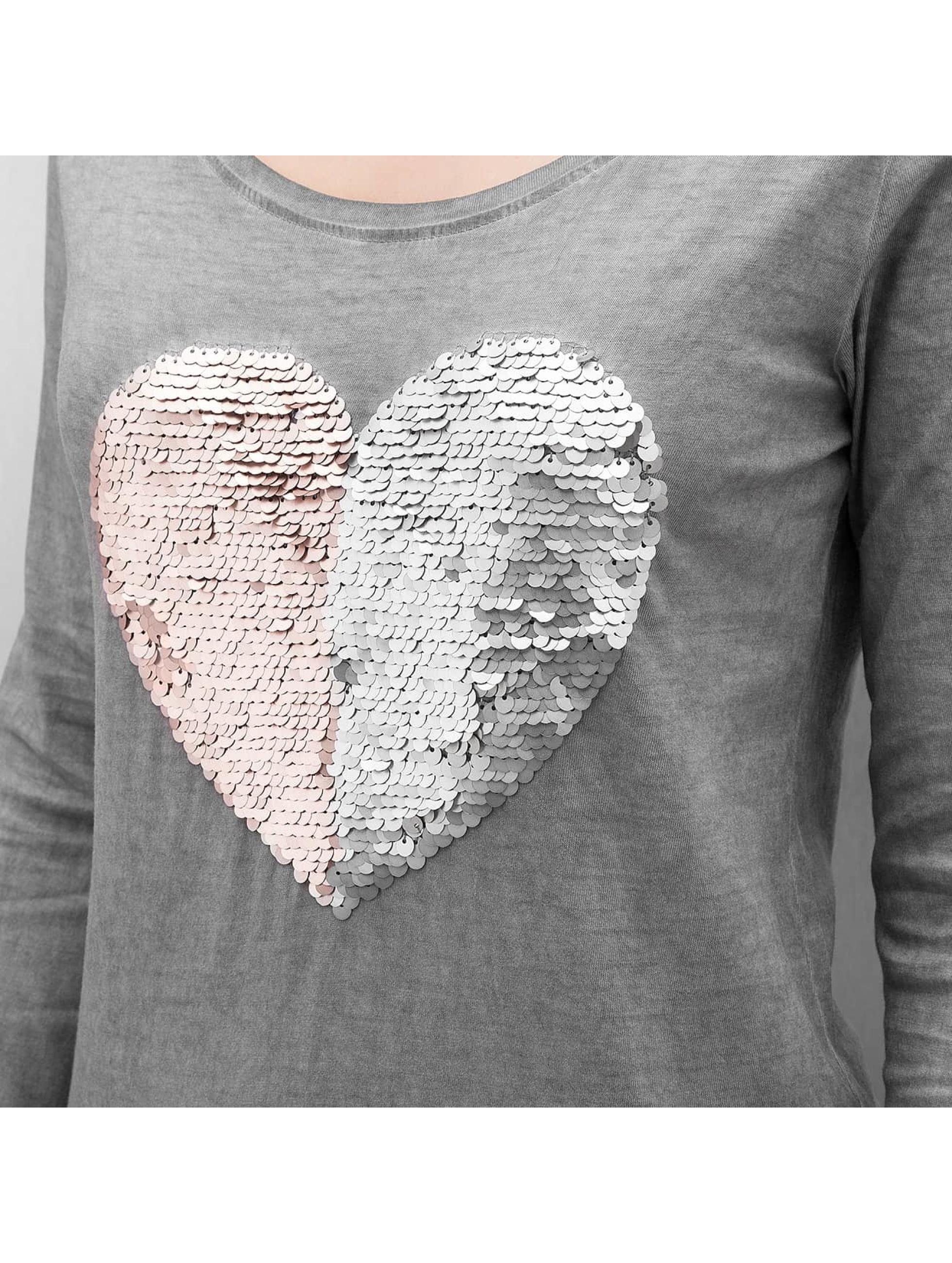 Authentic Style Longsleeve Heart grey