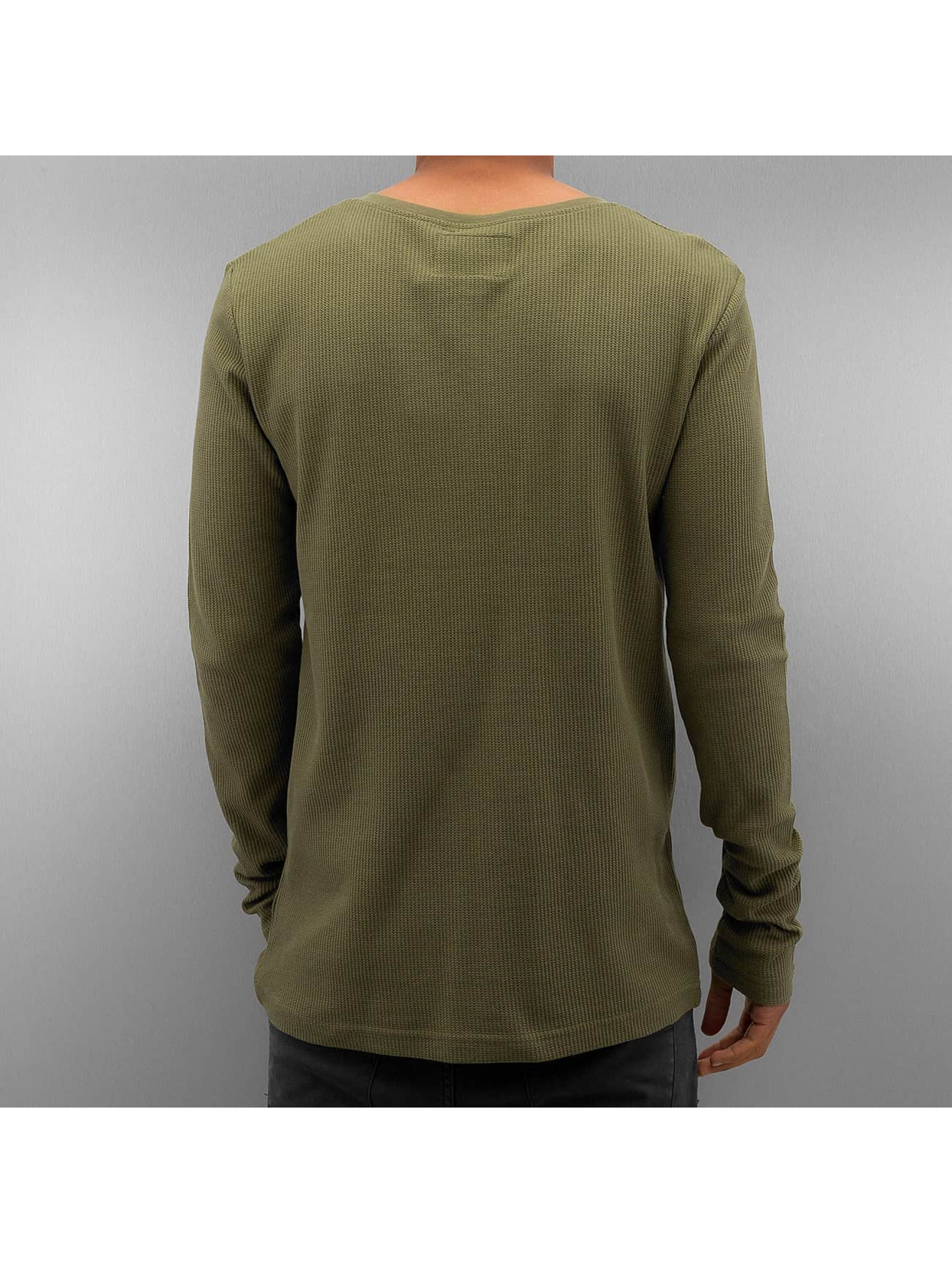 Authentic Style Longsleeve Henley olive