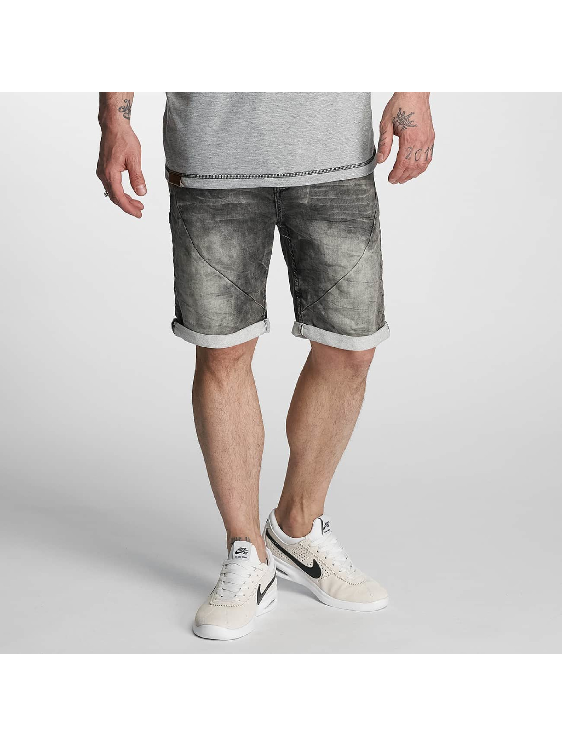 Authentic Style Pantalon / Shorts Sublevel Haka Bermuda Jogg Denim en gris