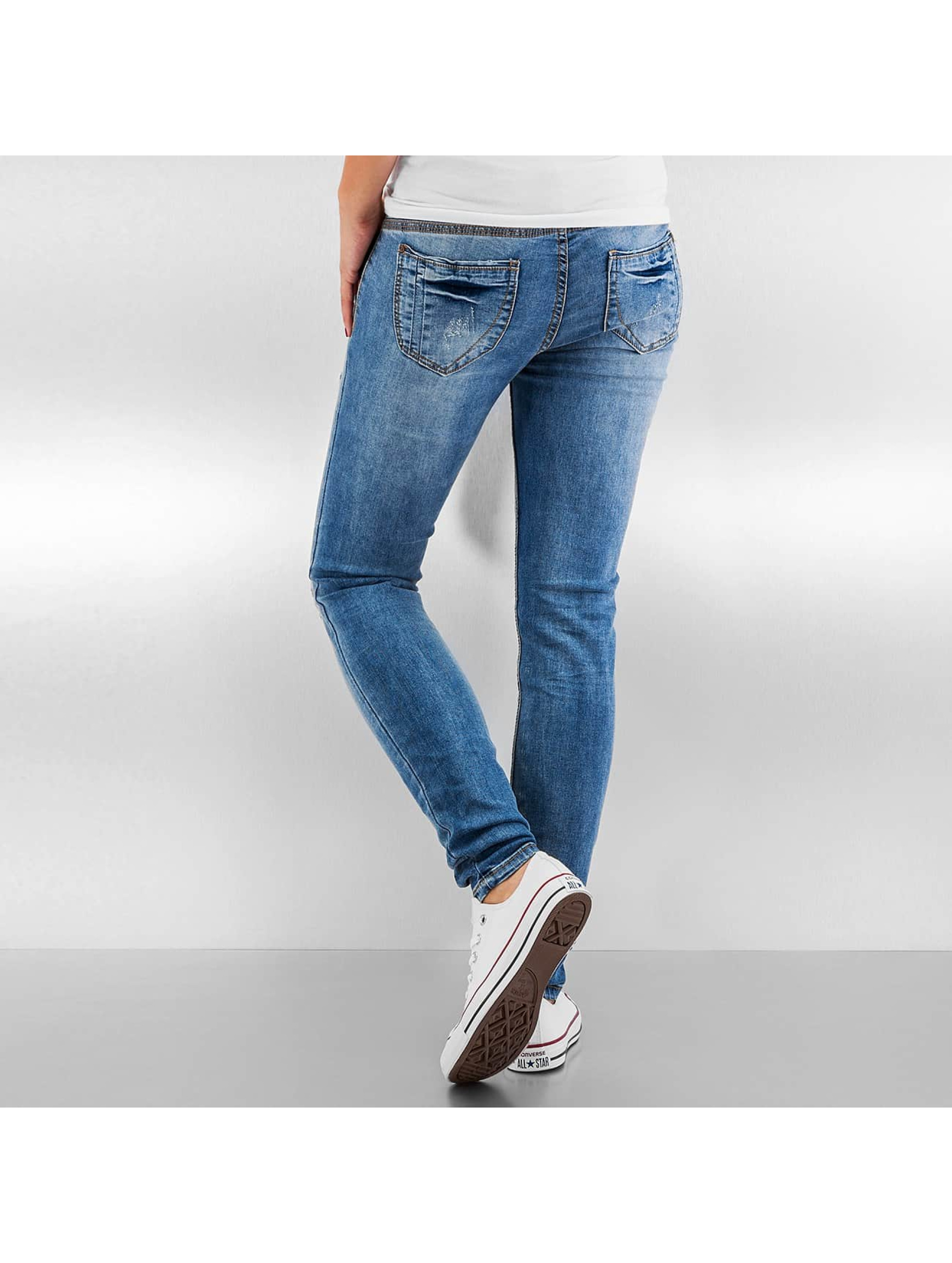 Authentic Style Skinny jeans Destroyed blå