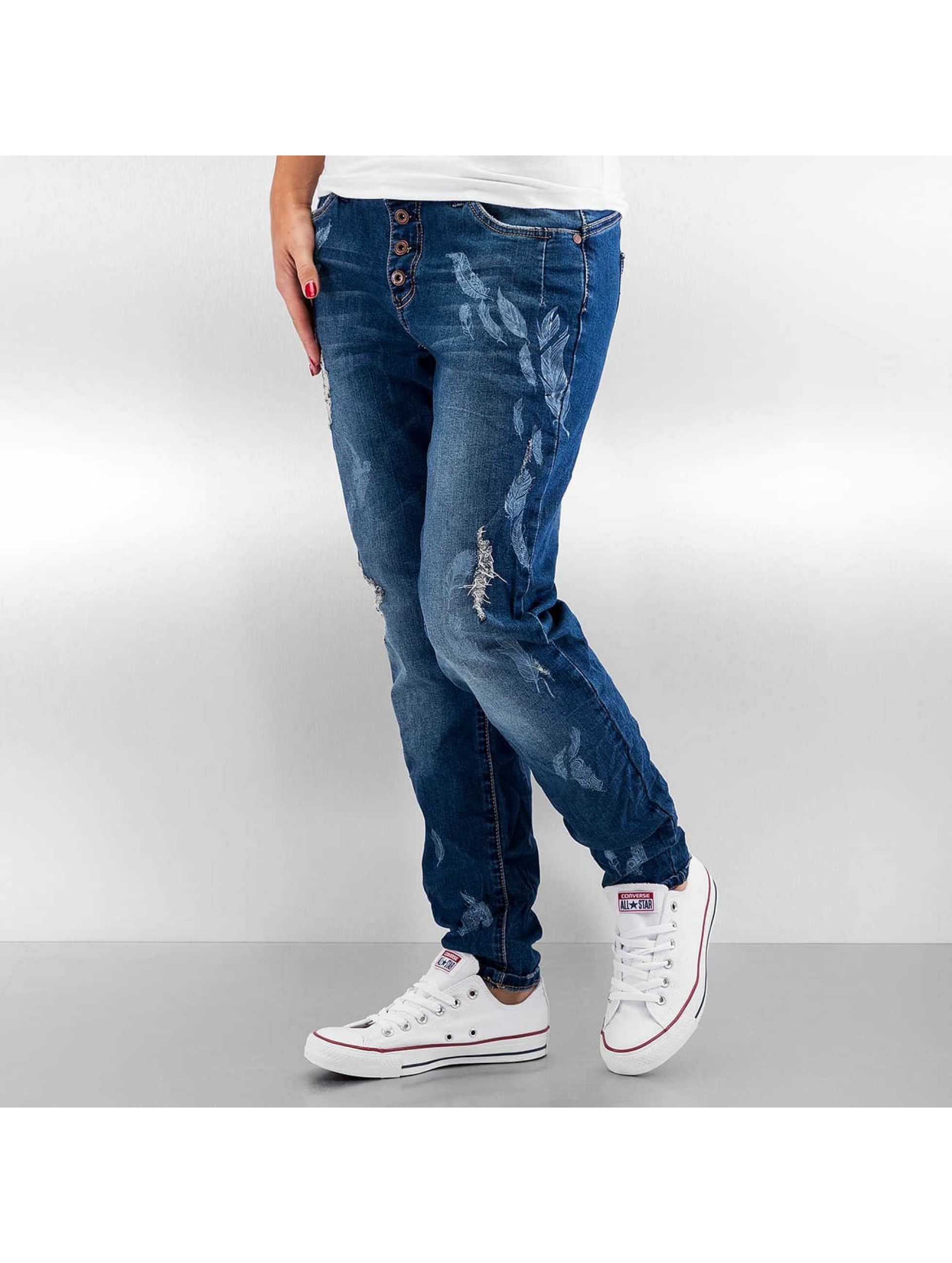 Skinny Jeans Feather in blau