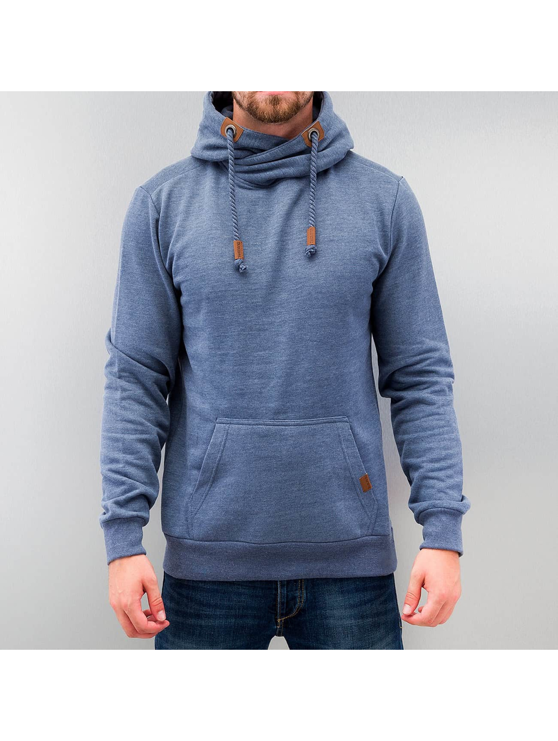 Authentic Style Haut / Sweat à capuche High Neck en bleu