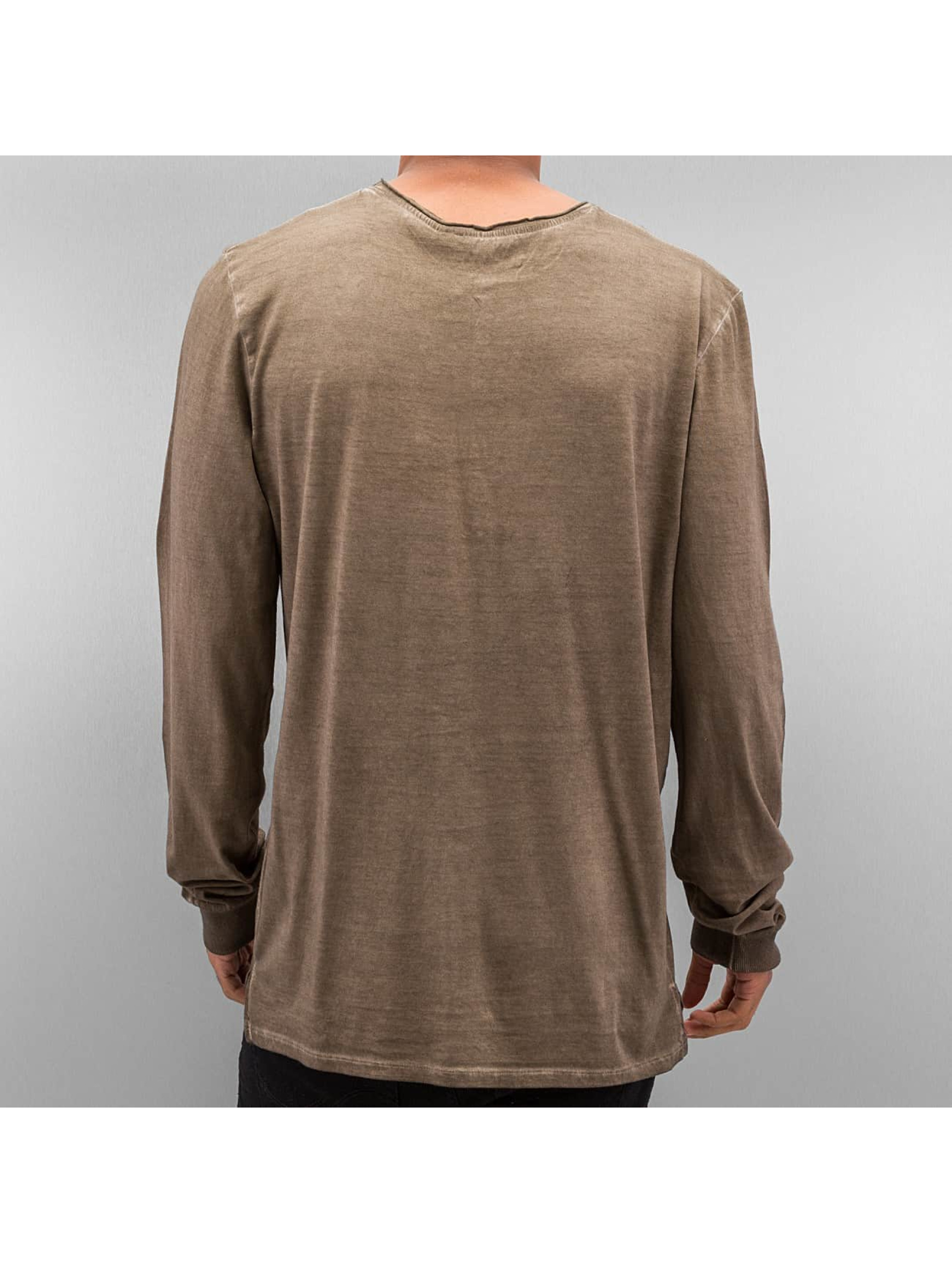 Authentic Style T-Shirt manches longues Dyed brun