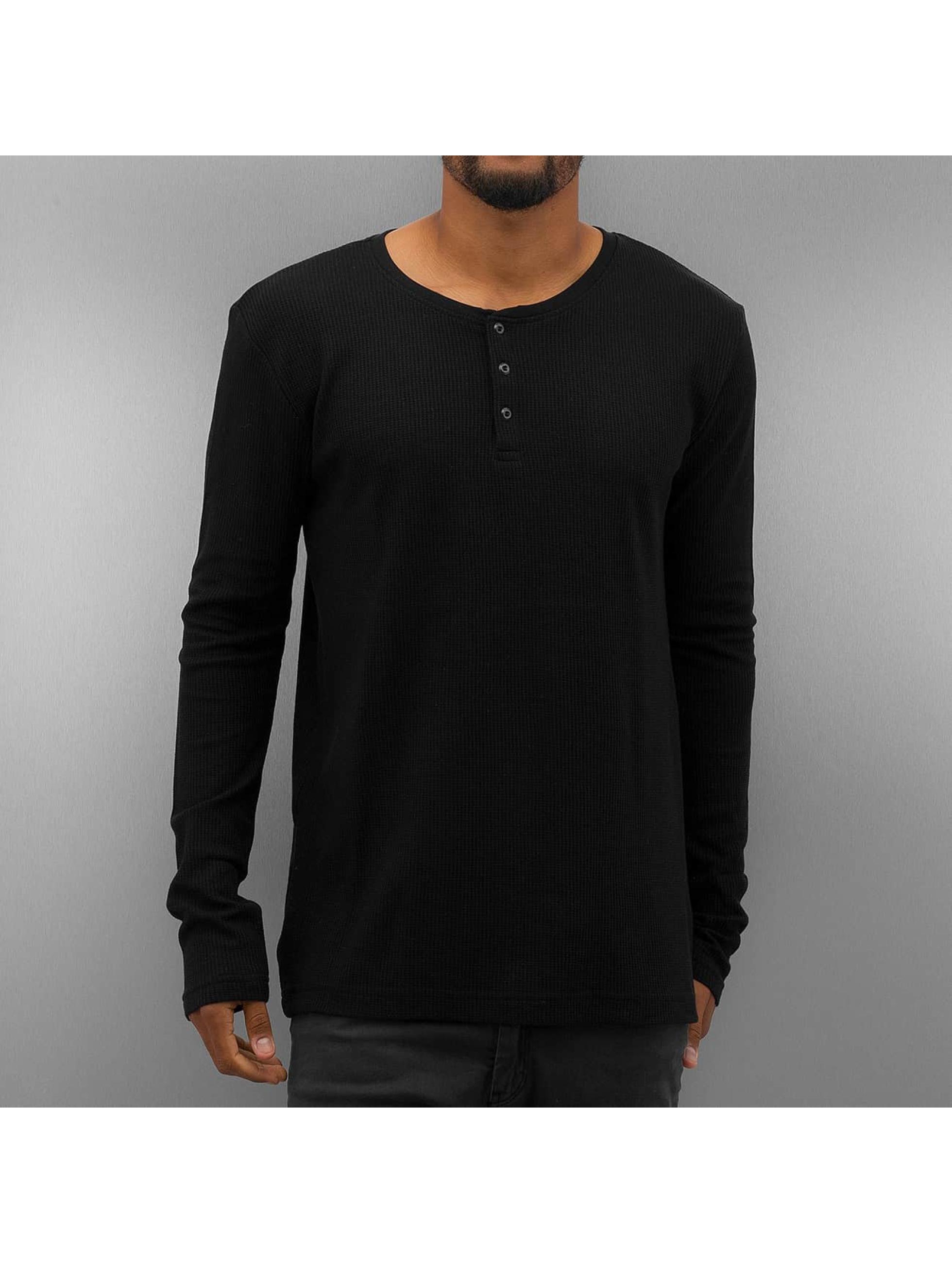 Authentic Style T-Shirt manches longues Henley noir