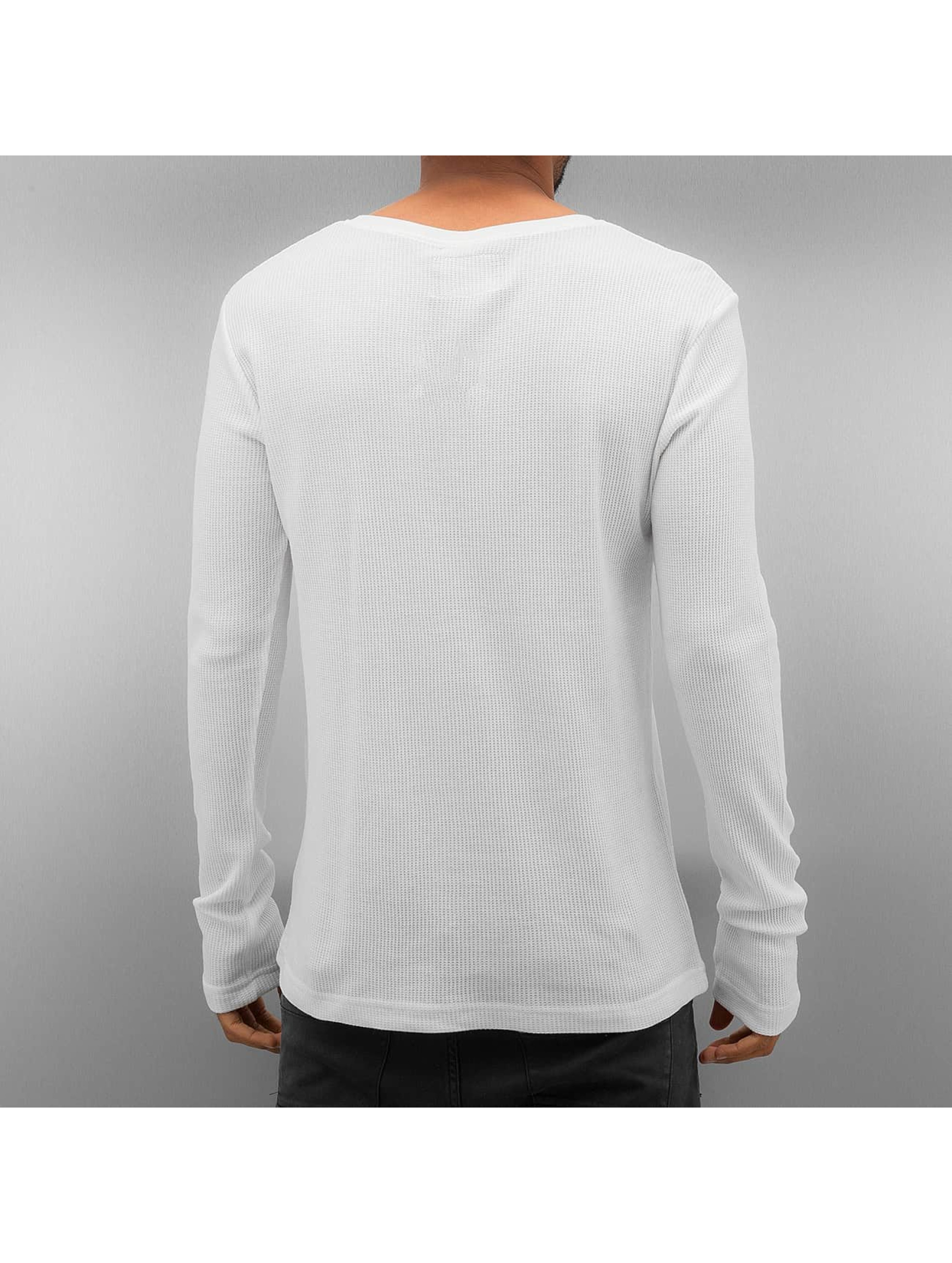 Authentic Style Tričká dlhý rukáv Henley biela